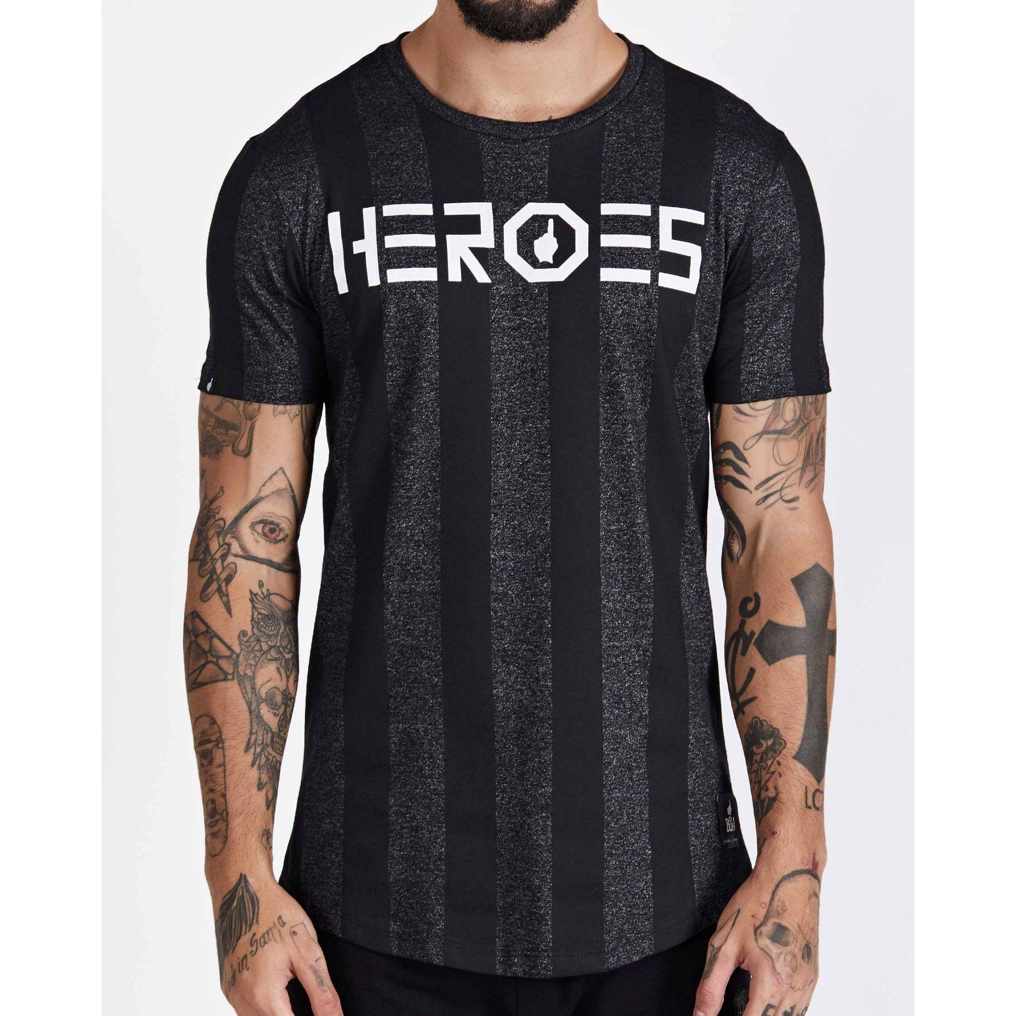 Camiseta Buh Heroes Stripe Grey