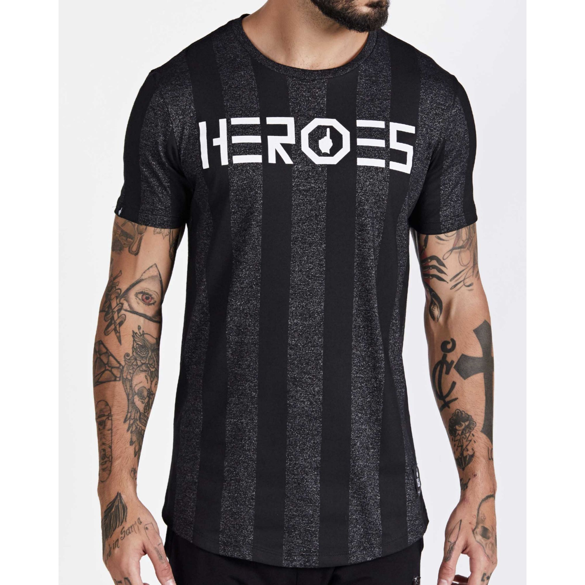 Camiseta Buh Heroes Stripe Grey