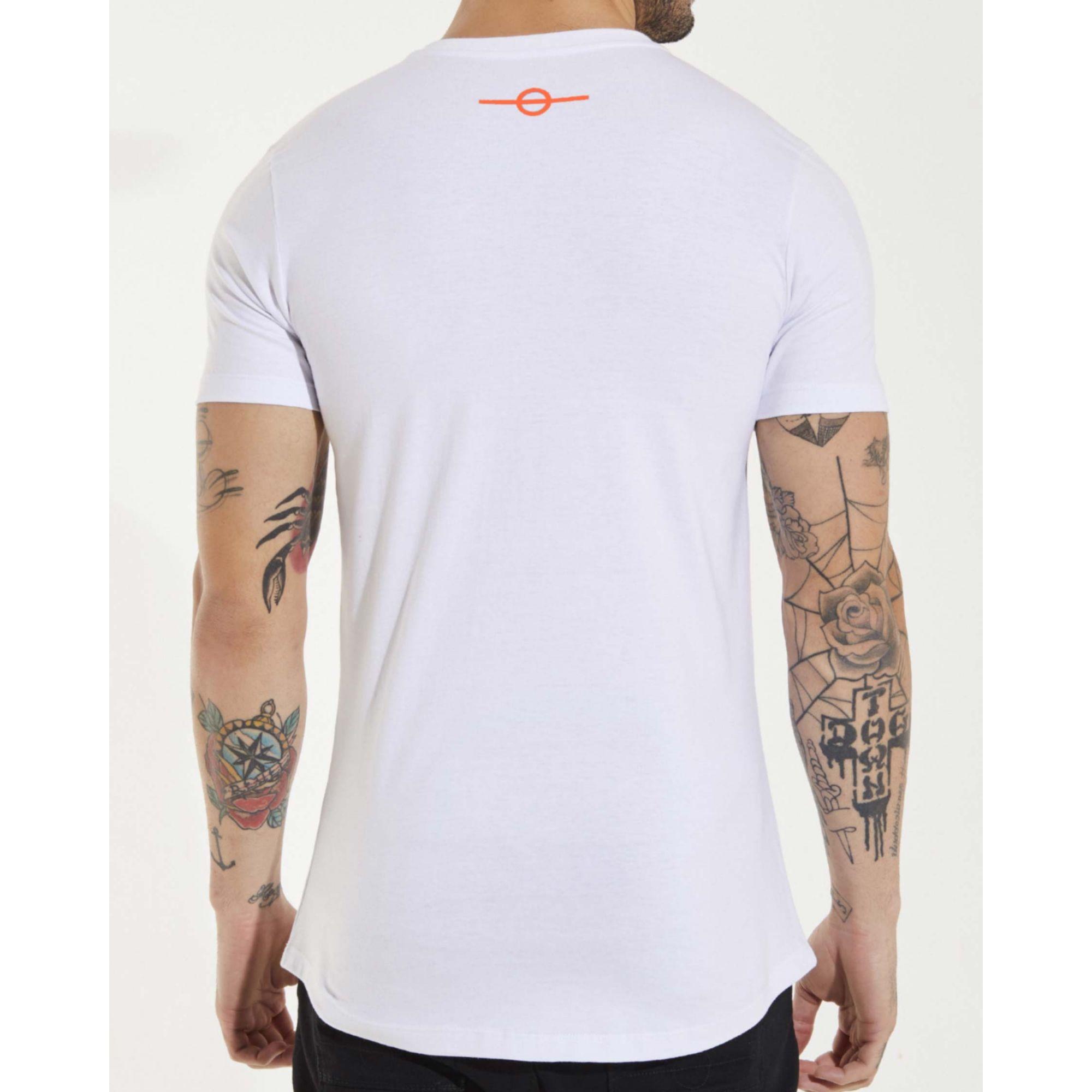 Camiseta Buh Inverse White & Neon