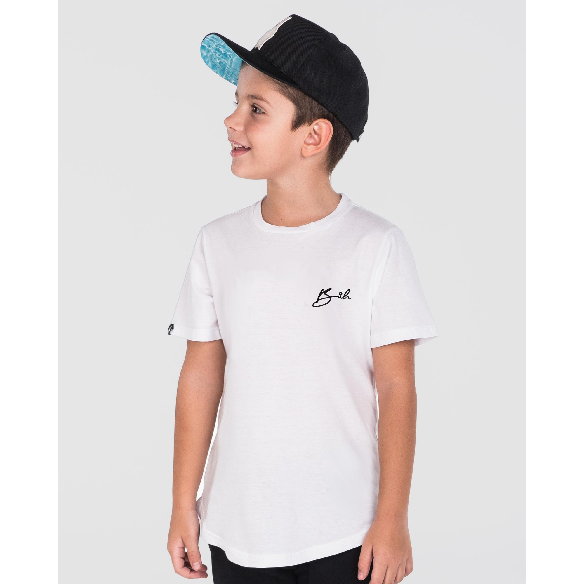 Camiseta Buh Kids Bordado White
