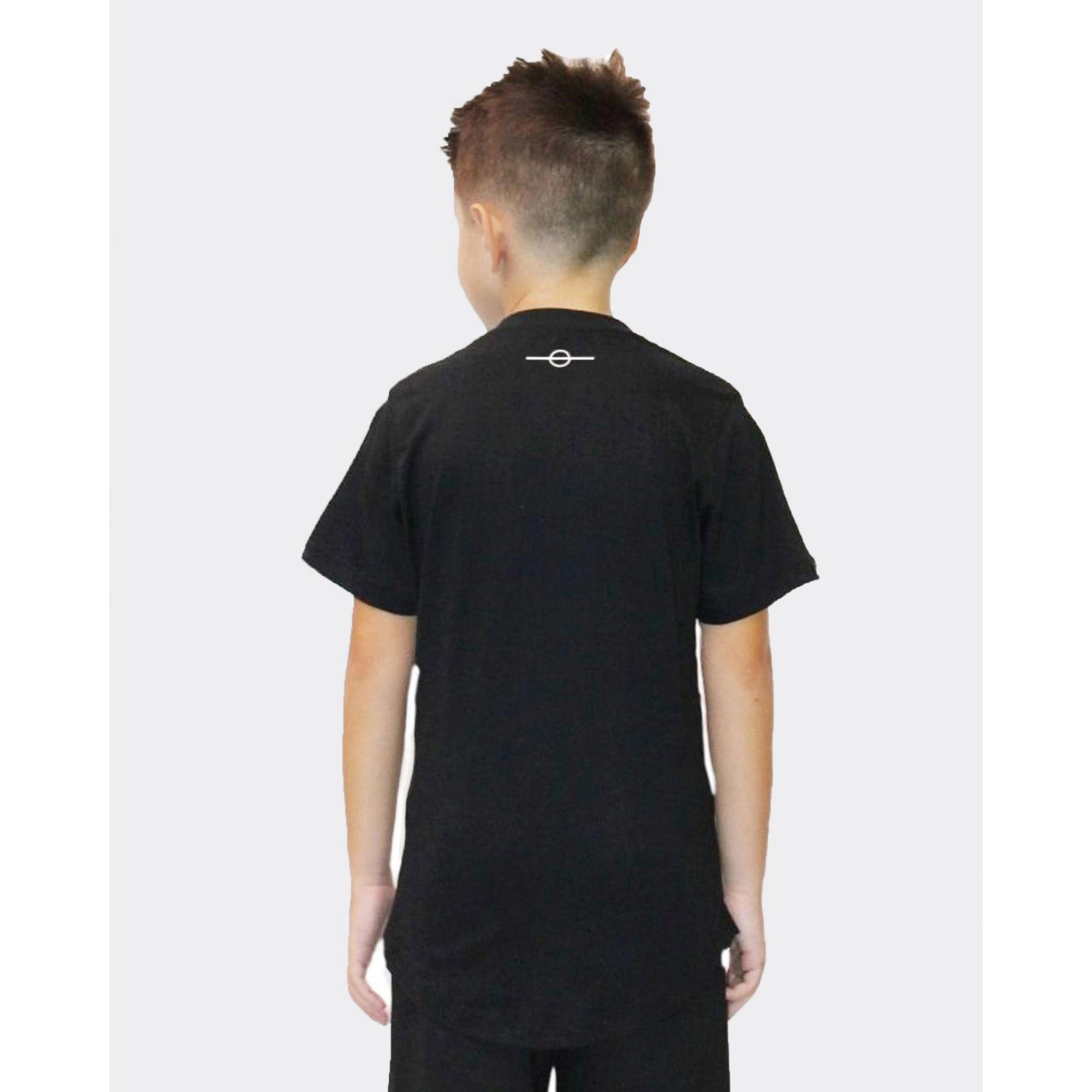 Camiseta Buh Kids Candy Square Black & Rose