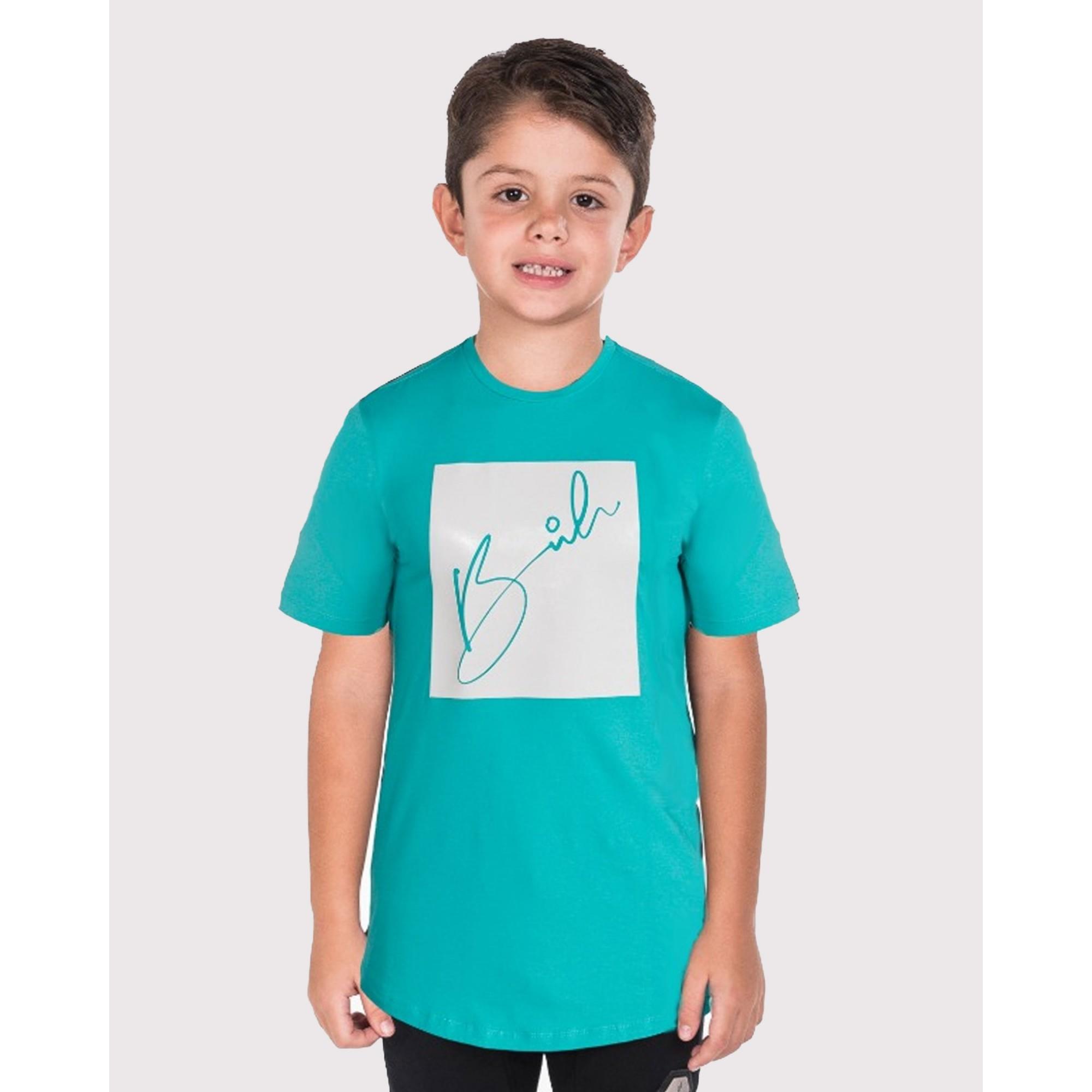 Camiseta Buh Kids Candy Square Blue & White