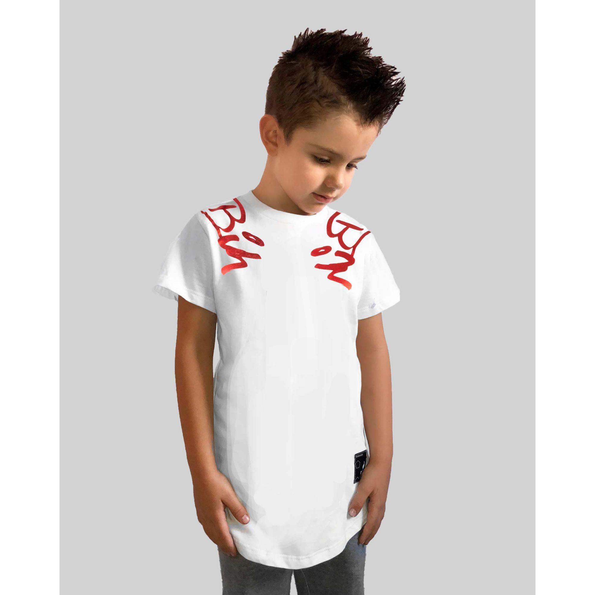 Camiseta Buh Kids Espelhada White