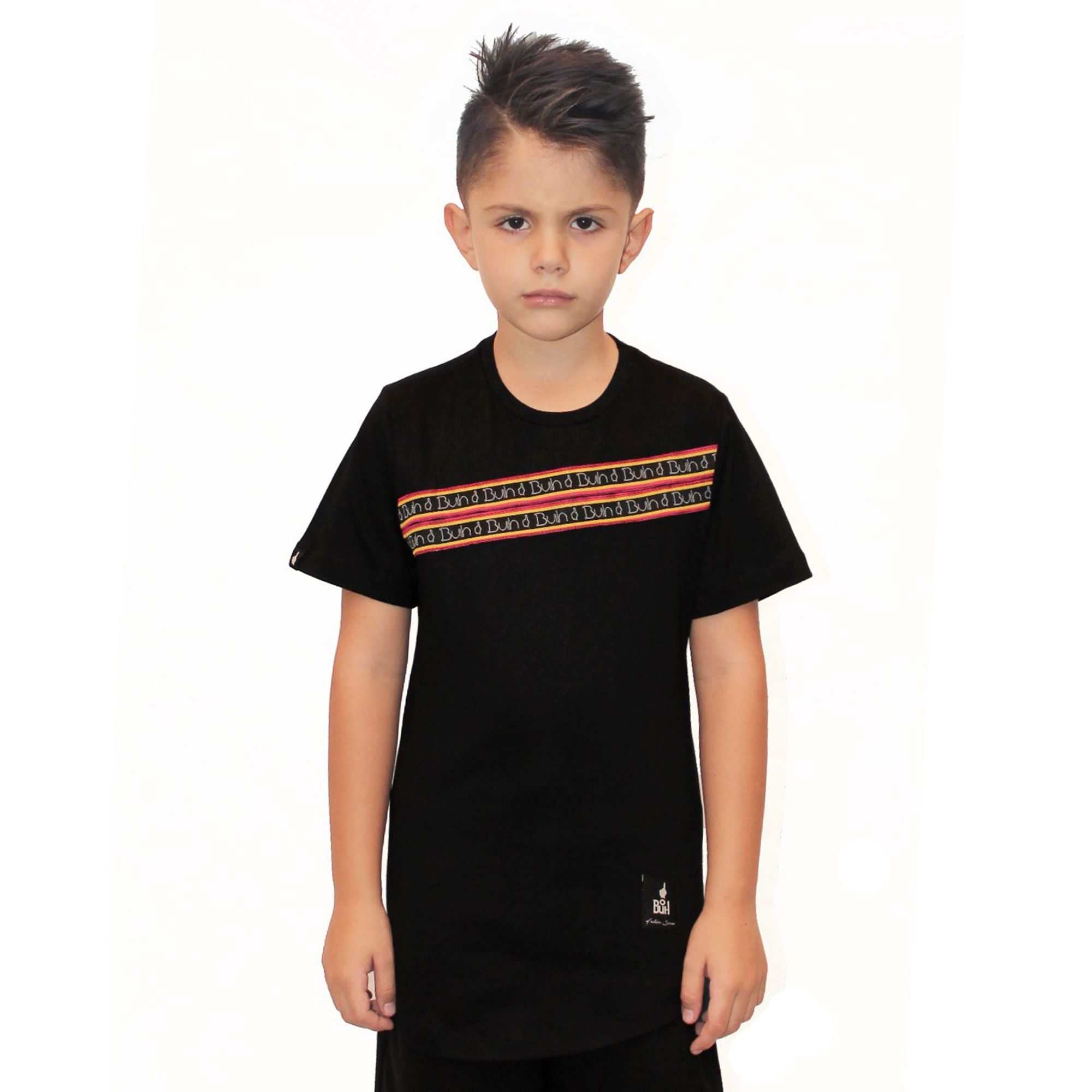 Camiseta Buh Kids Faixas Black