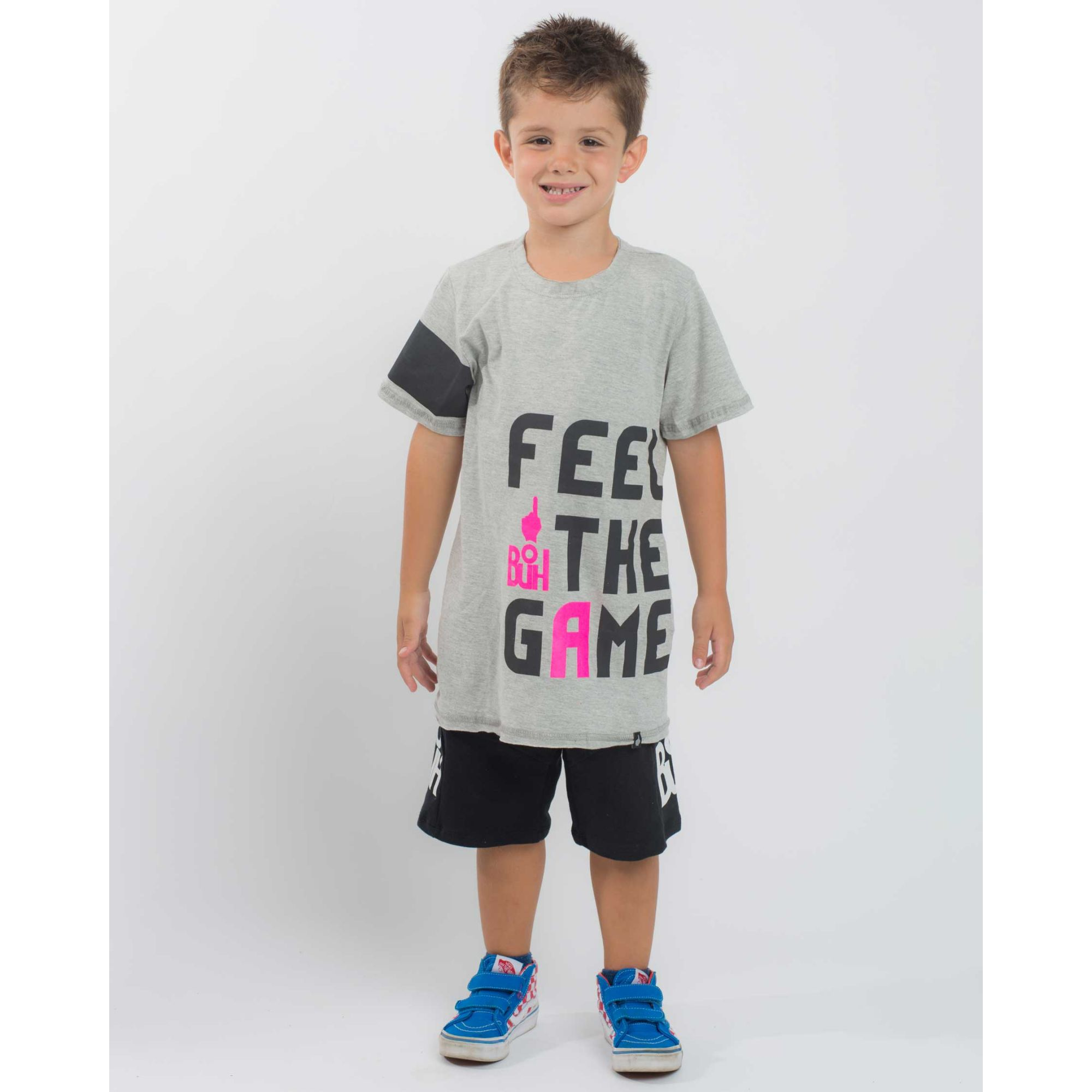 Camiseta Buh Kids Feel The Game Grey