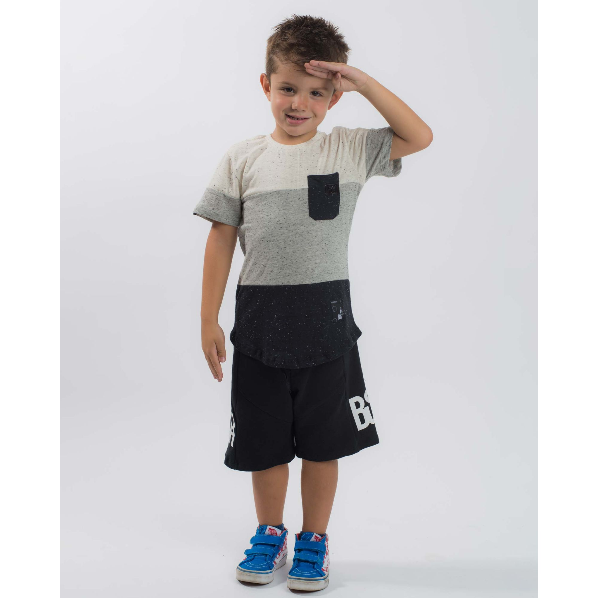 Camiseta Buh Kids Flag Botonê Three Colors