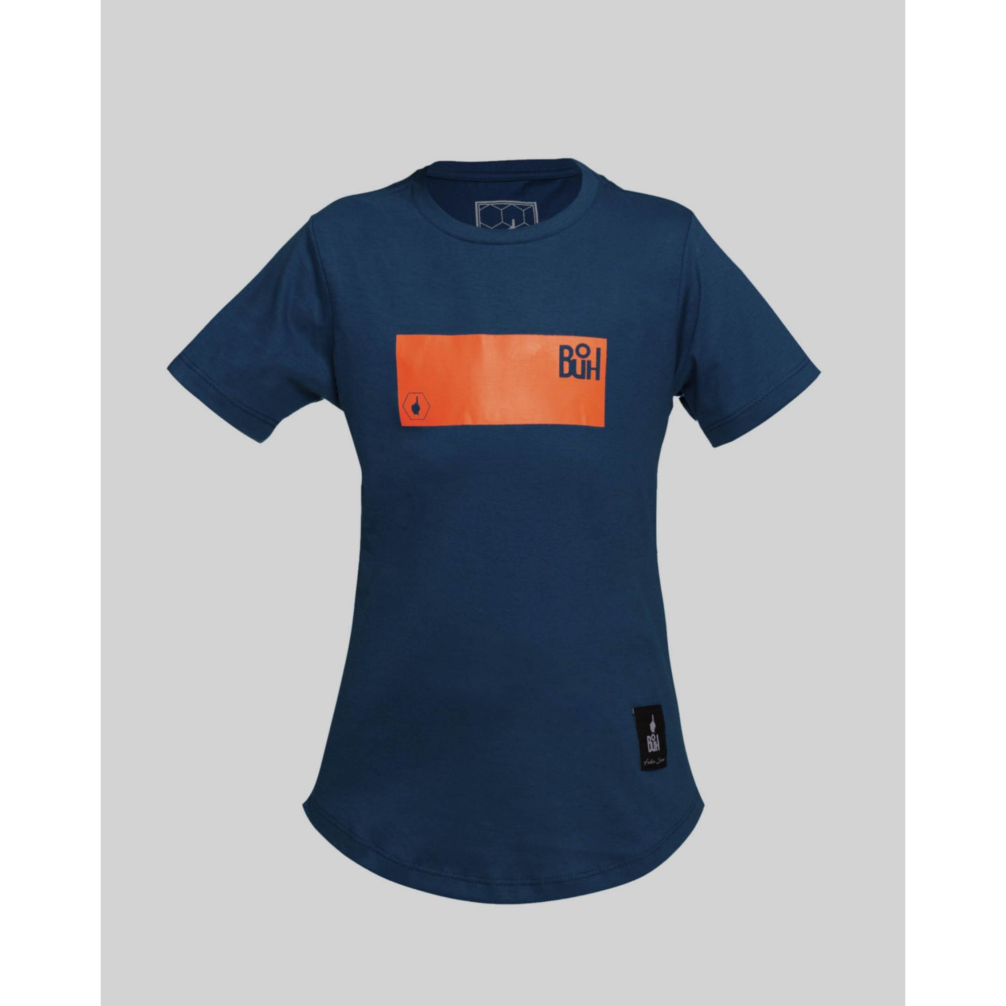 Camiseta Buh Kids Fluor Square Blue