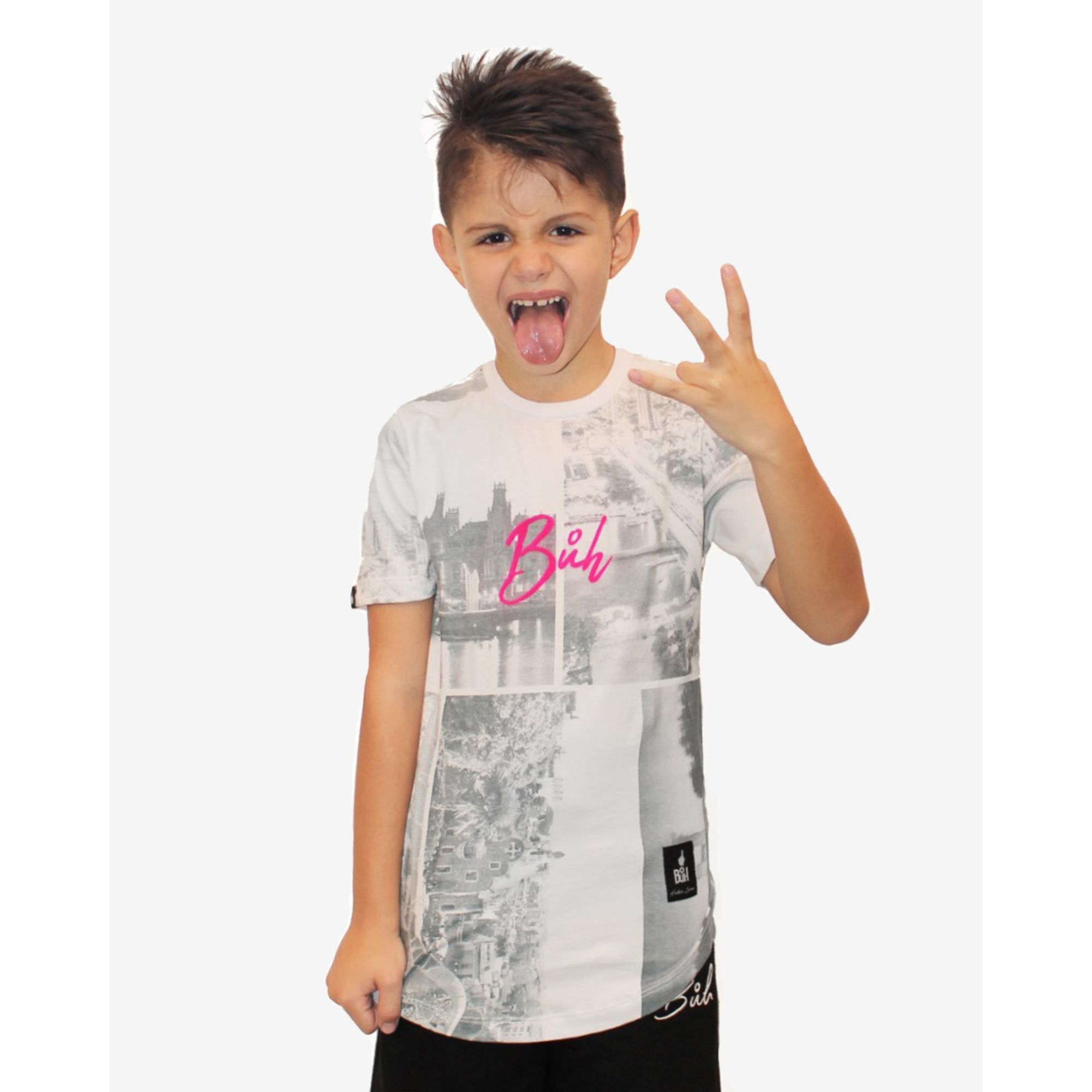 Camiseta Buh Kids Full City Heróis