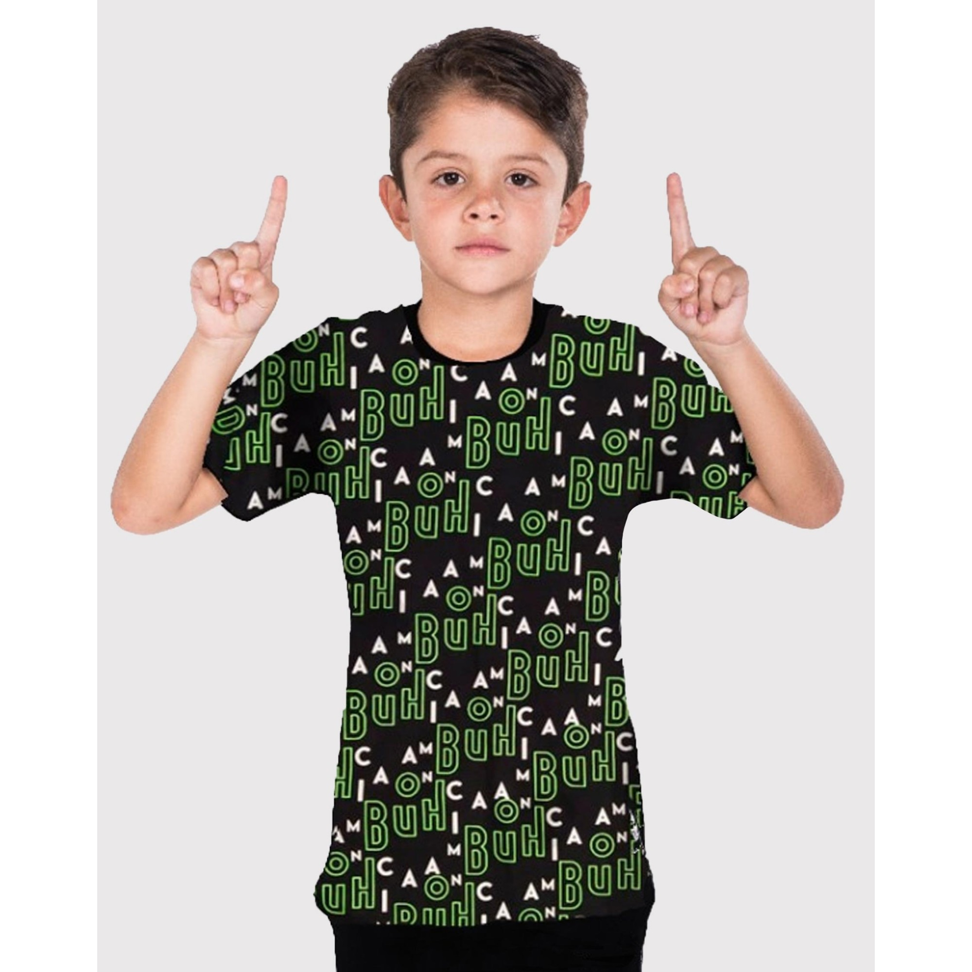Camiseta Buh Kids Full Maniac Black