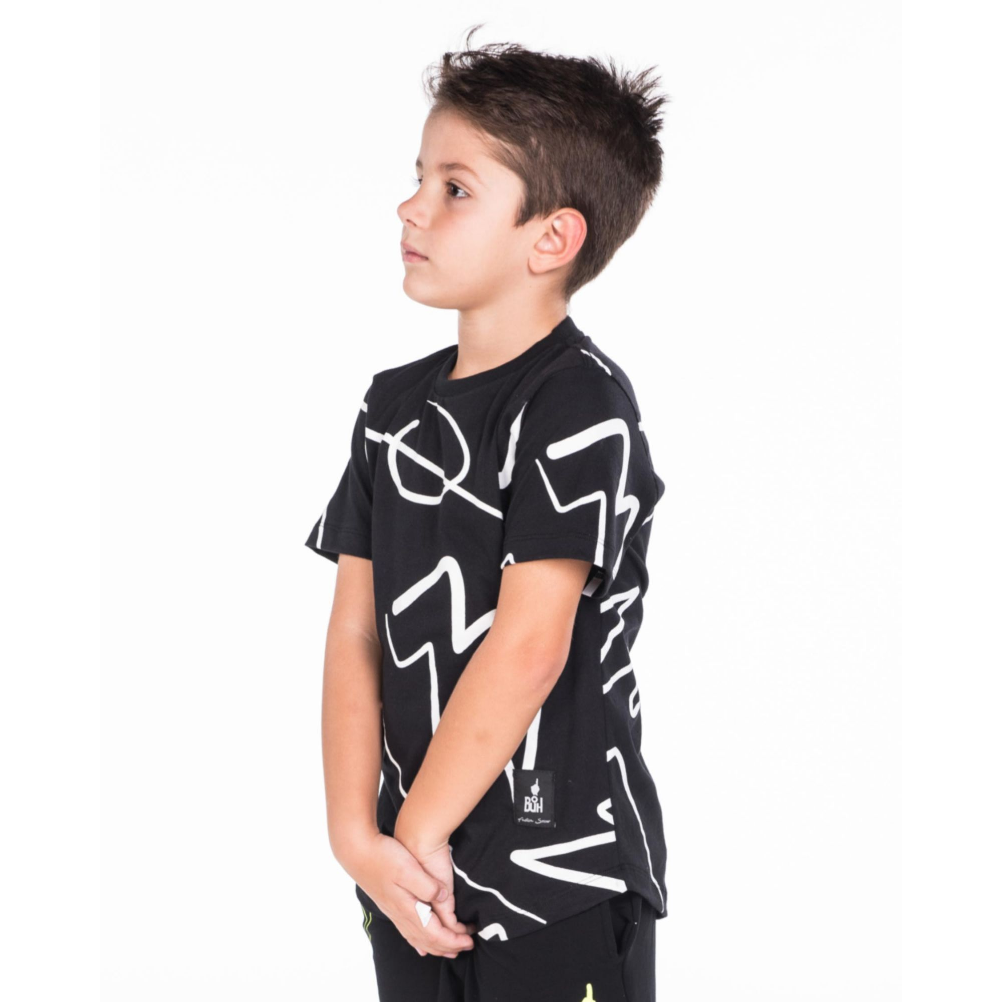 Camiseta Buh Kids Full Rabiscos Black