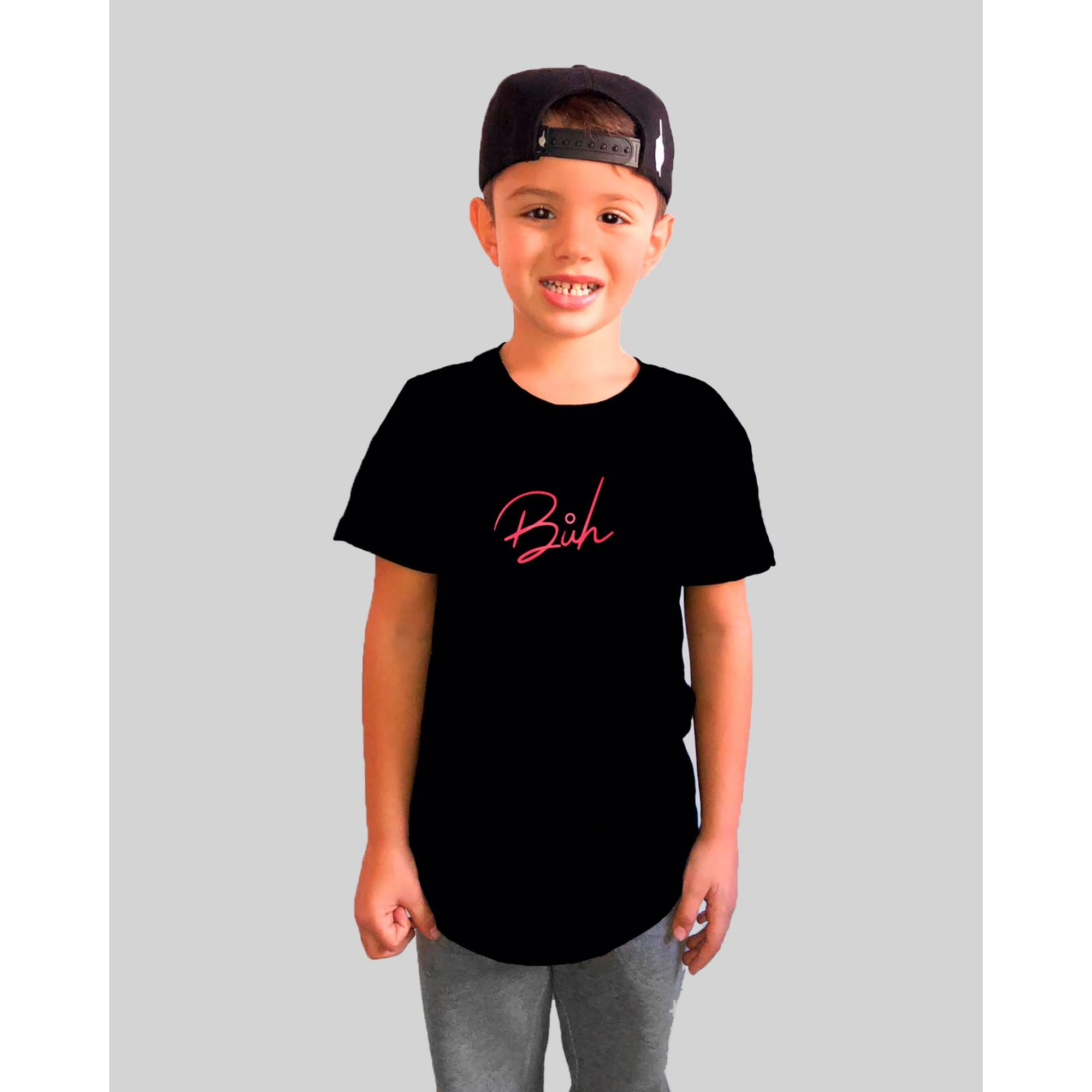 Camiseta Buh Kids God Bless Black