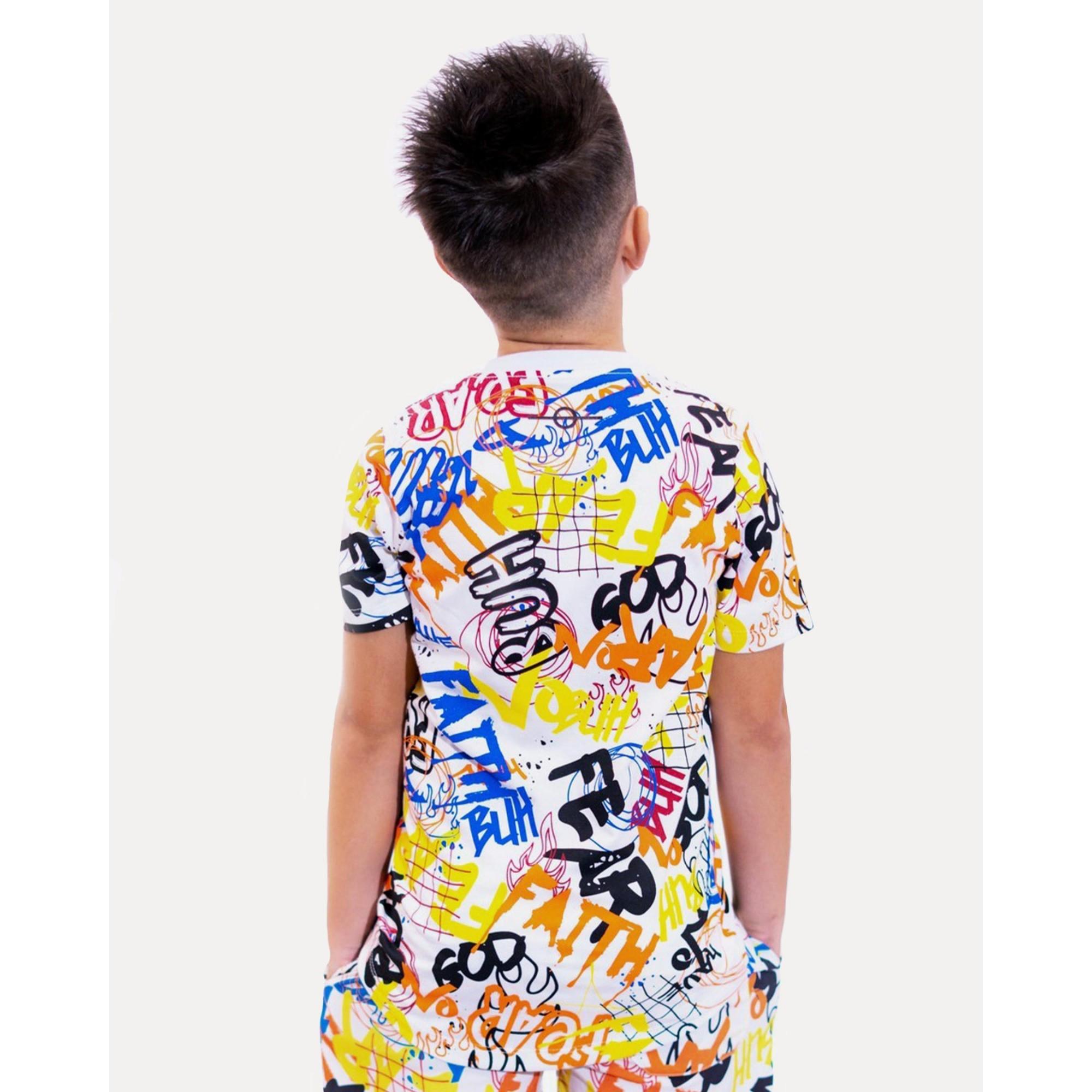 Camiseta Buh Kids Grafitti White