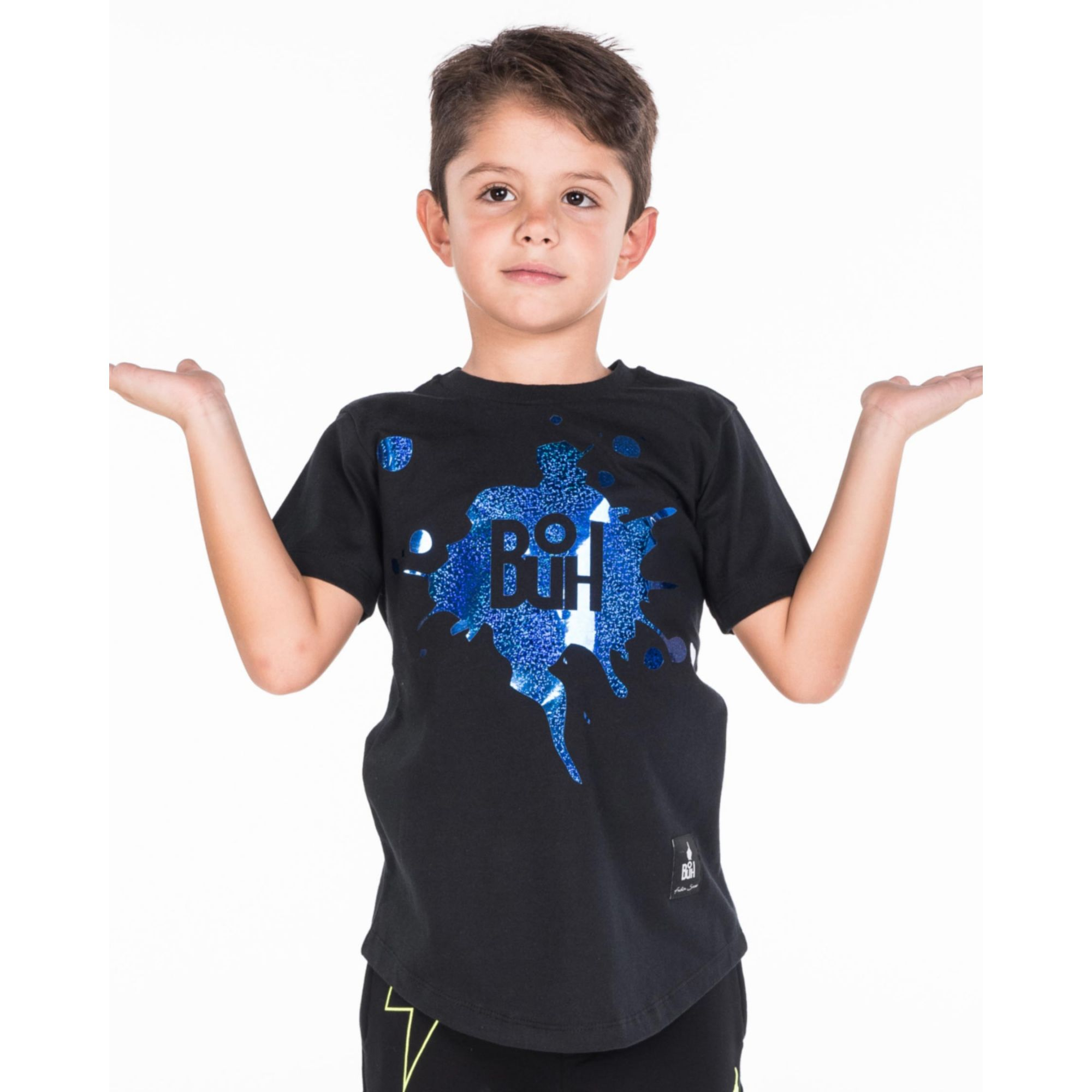 Camiseta Buh Kids Laminada Black