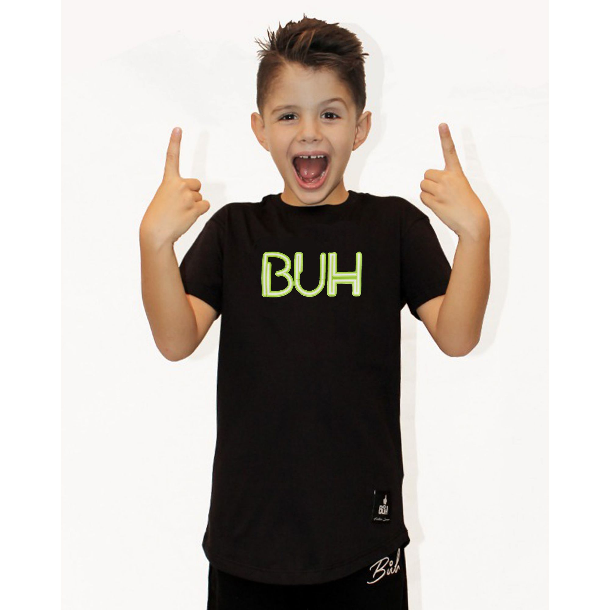Camiseta Buh Kids Letreiro Black