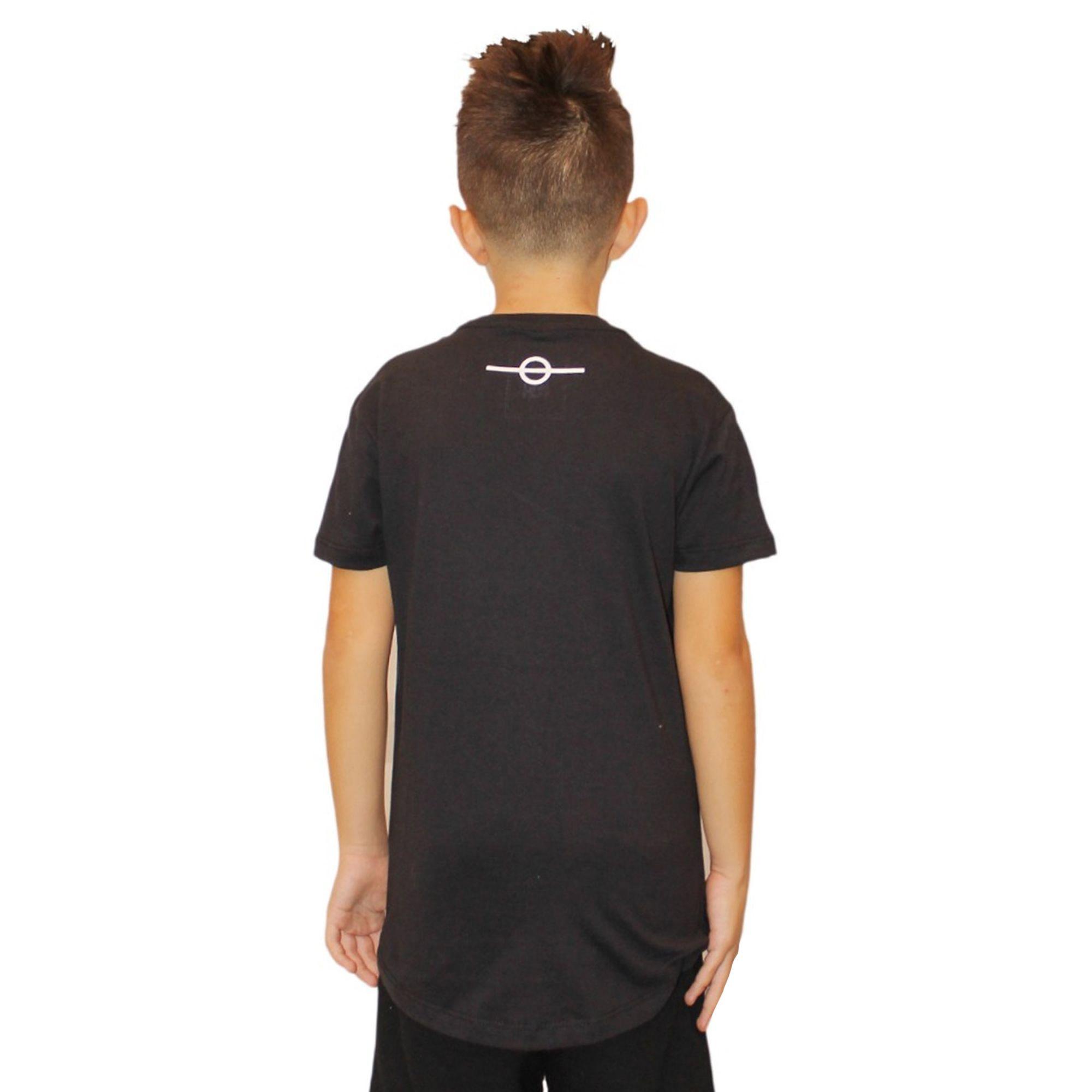 Camiseta Buh Kids Letreiro Black
