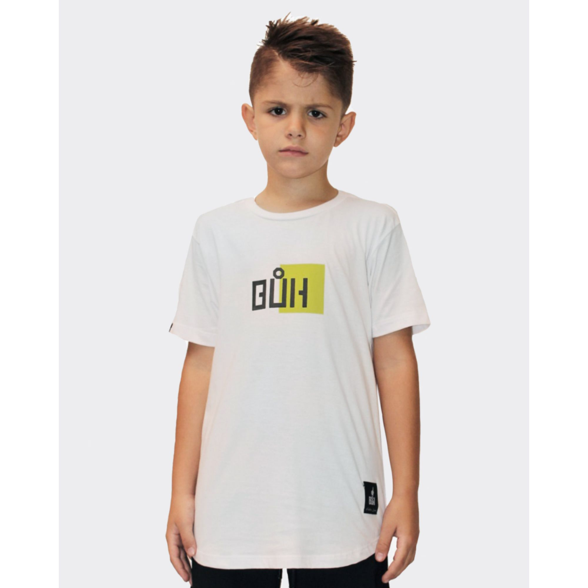 Camiseta Buh Kids Little Square White