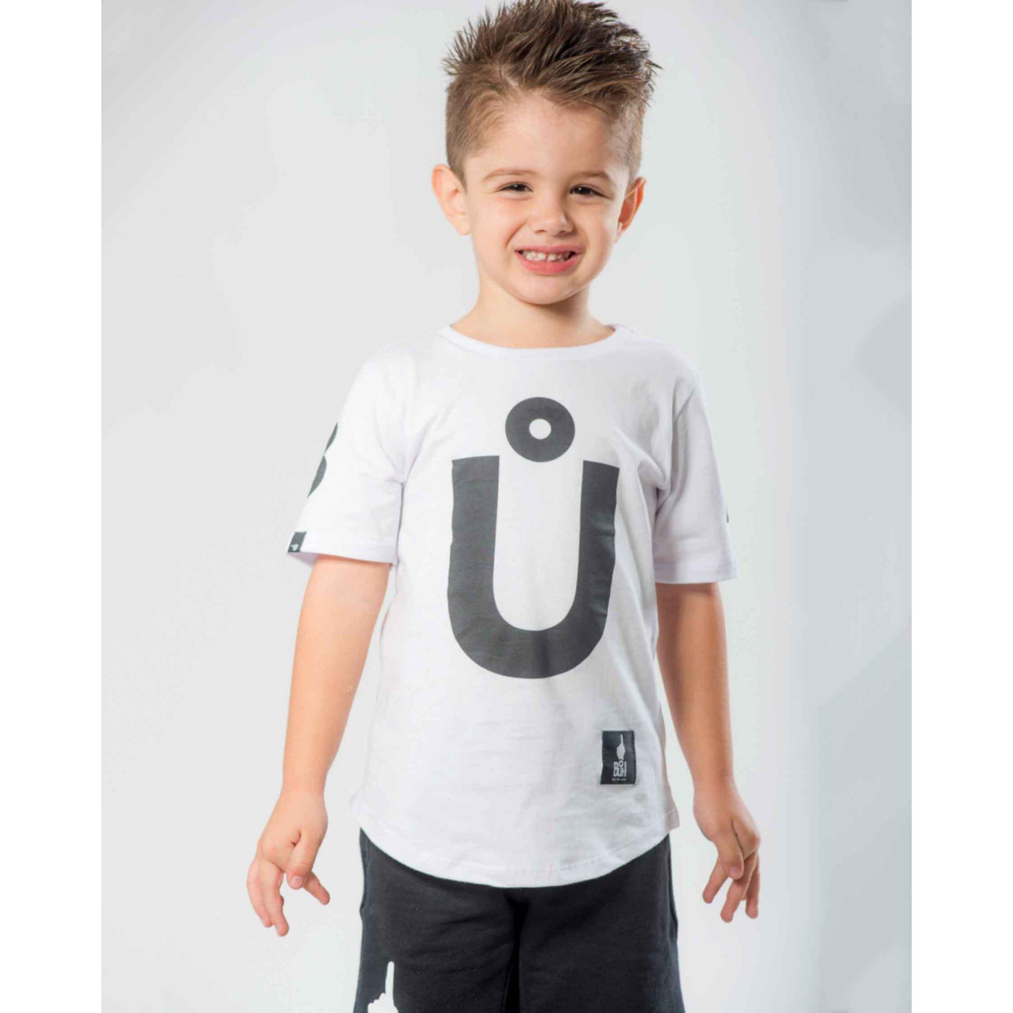 Camiseta Buh Kids Maxxi Letters White