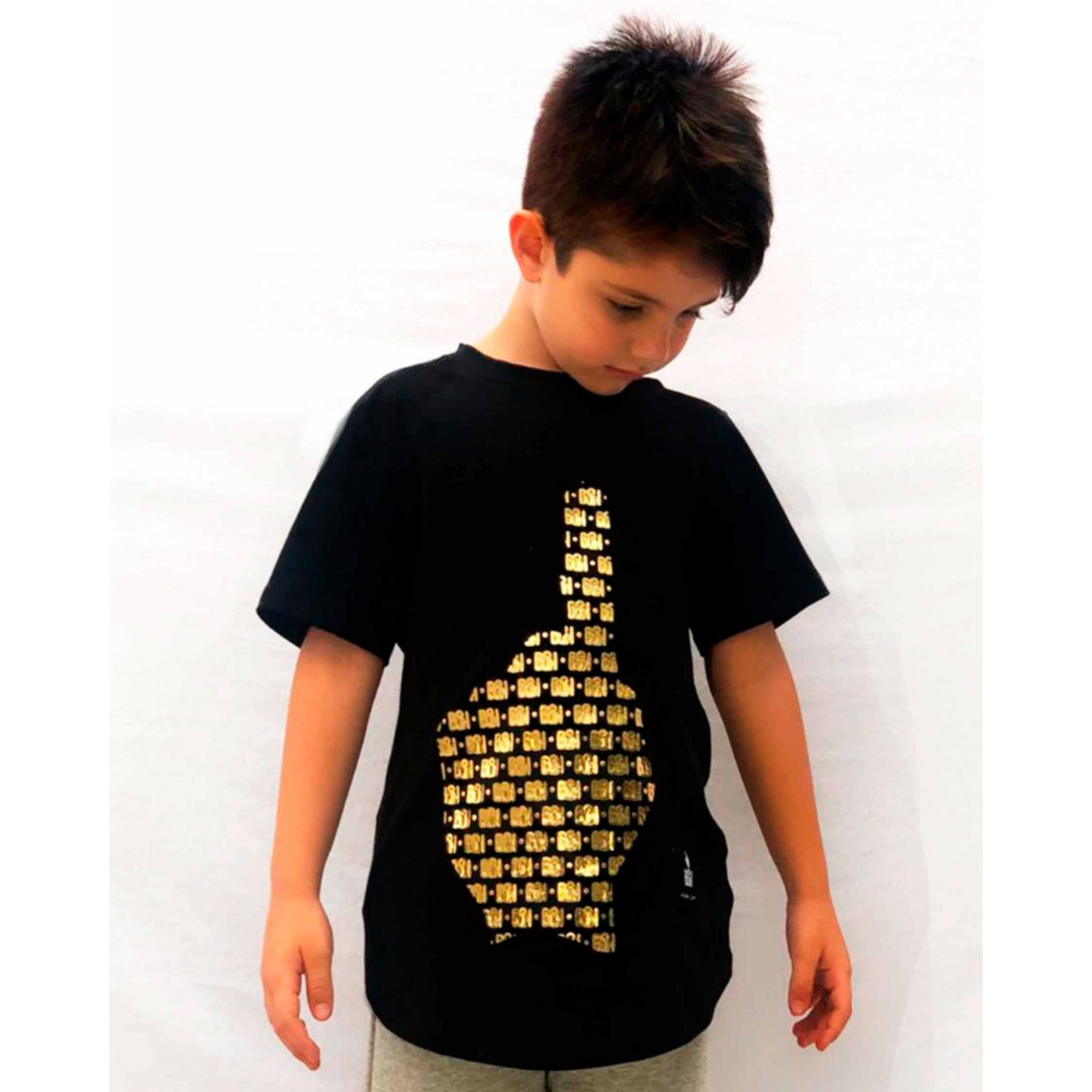 Camiseta Buh Kids Multi Logo Black
