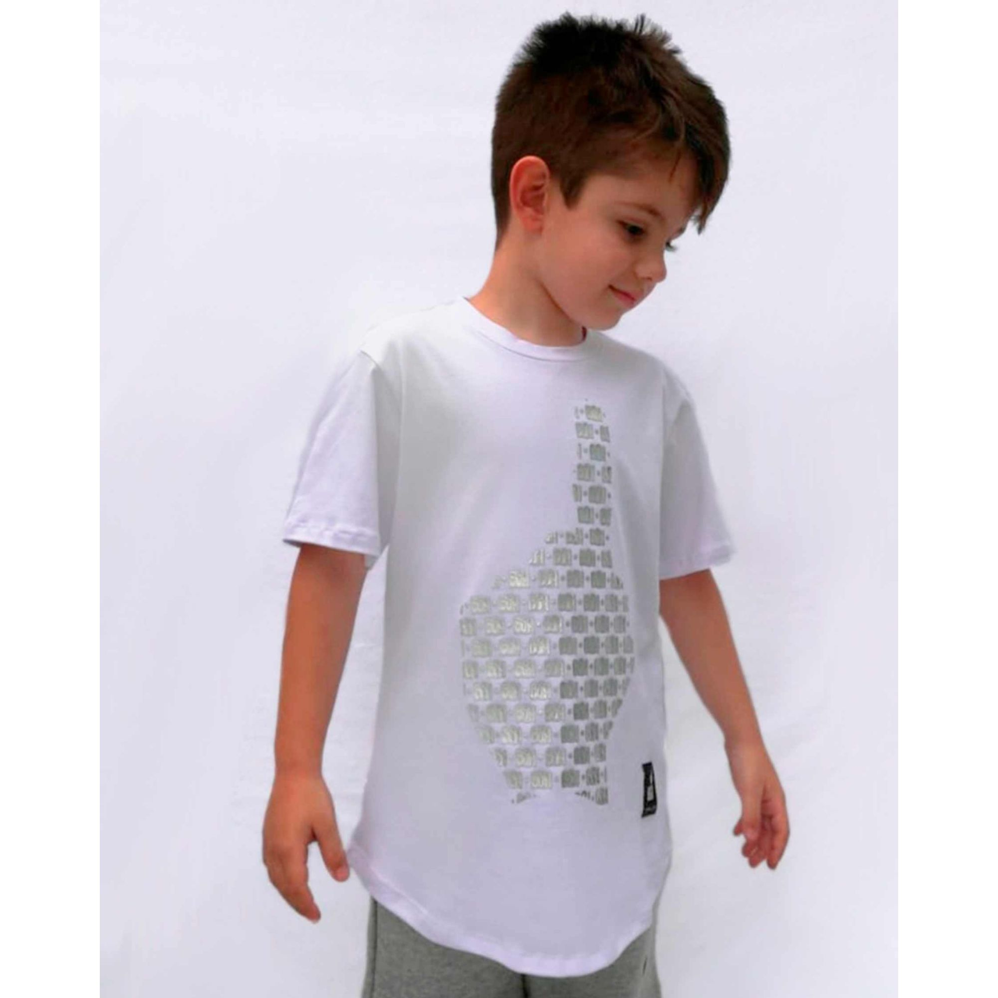 Camiseta Buh Kids Multi Logo White
