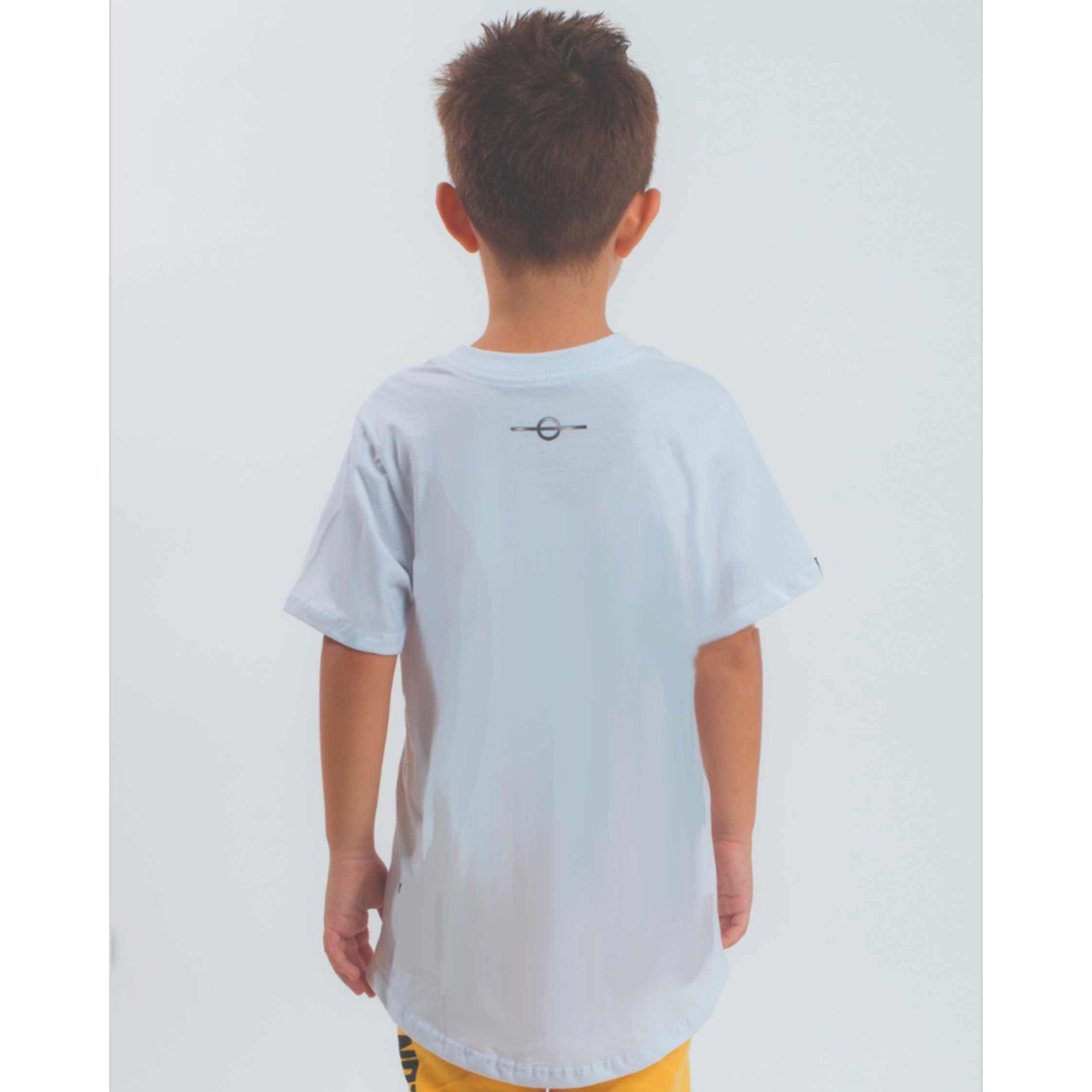 Camiseta Buh Kids Multi Logo White