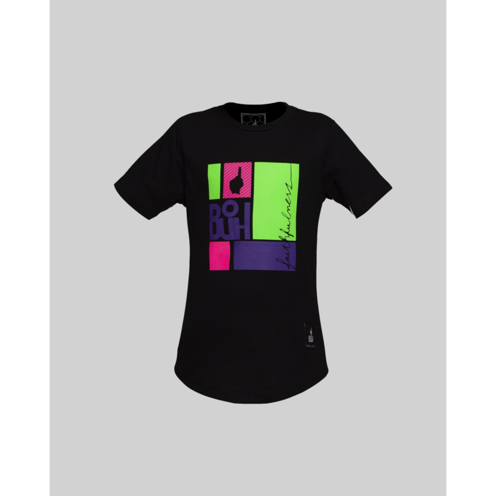 Camiseta Buh Kids Multi Squares Black