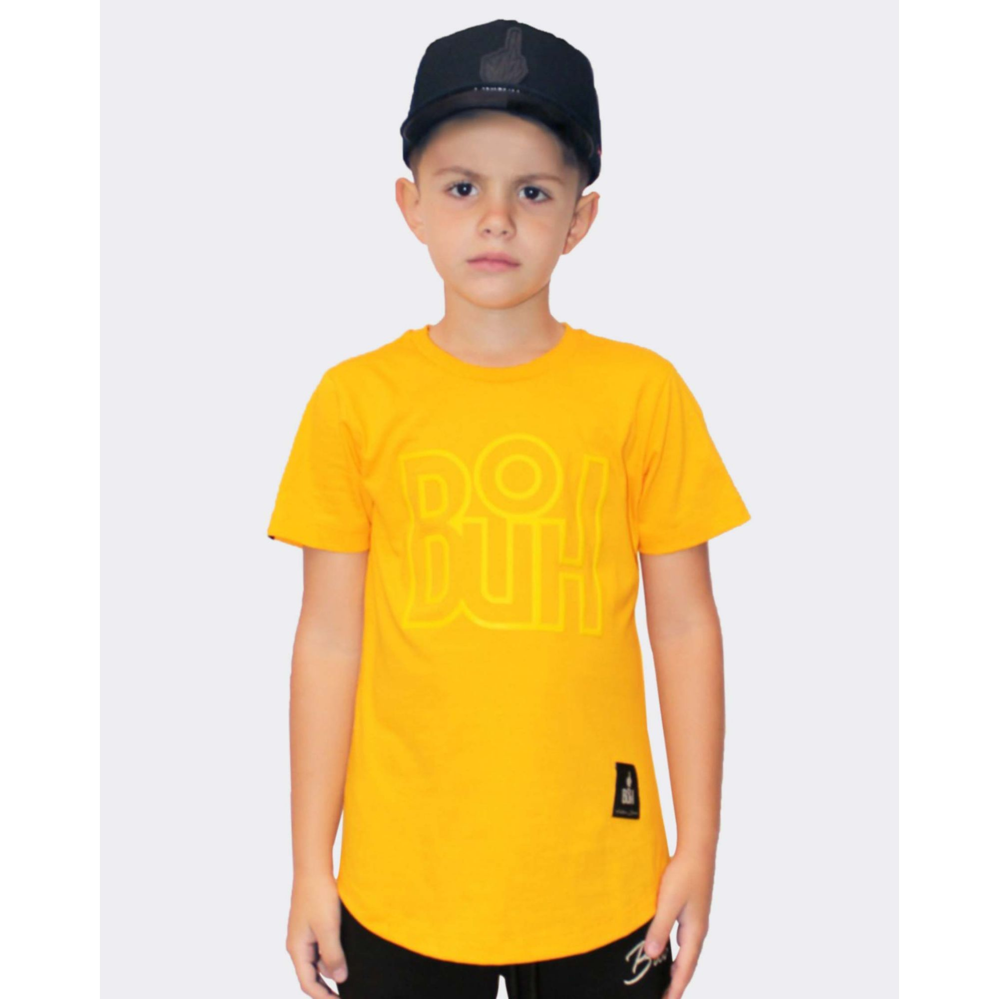 Camiseta Buh Kids Outline Yellow