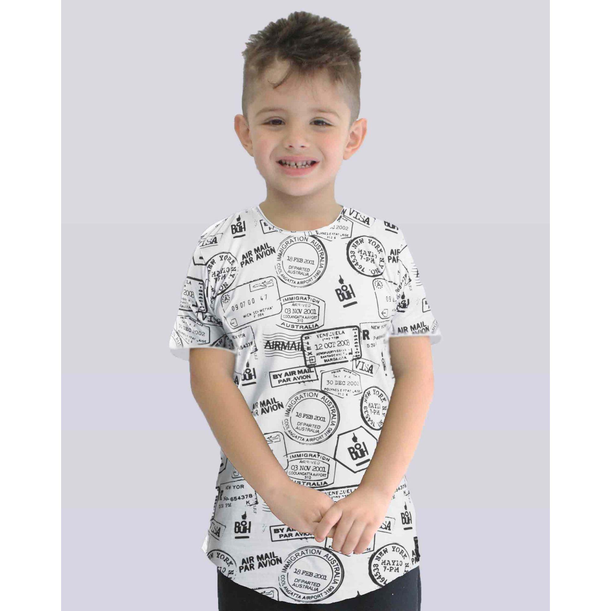 Camiseta Buh Kids Passaporte White