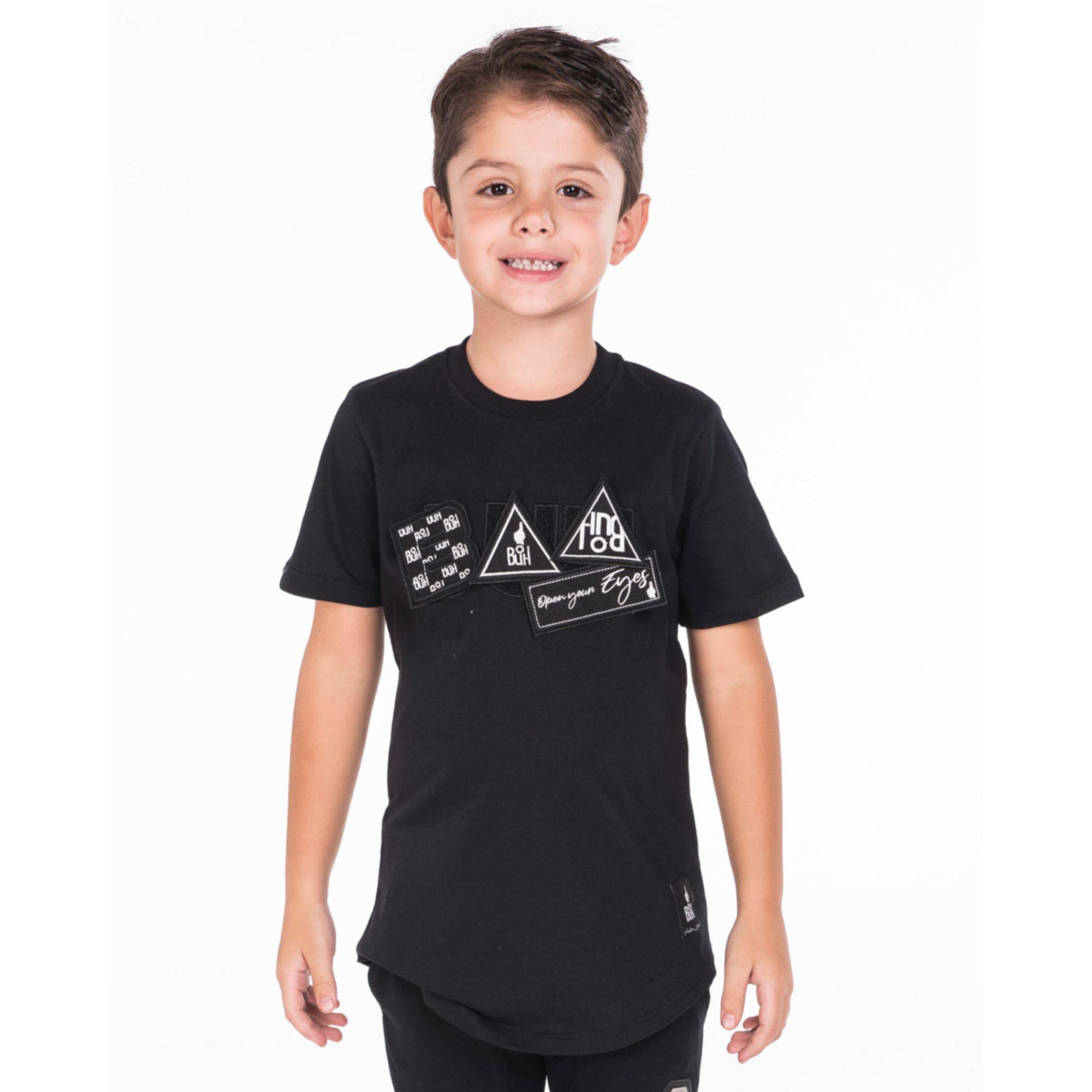 Camiseta Buh Kids Patches Black