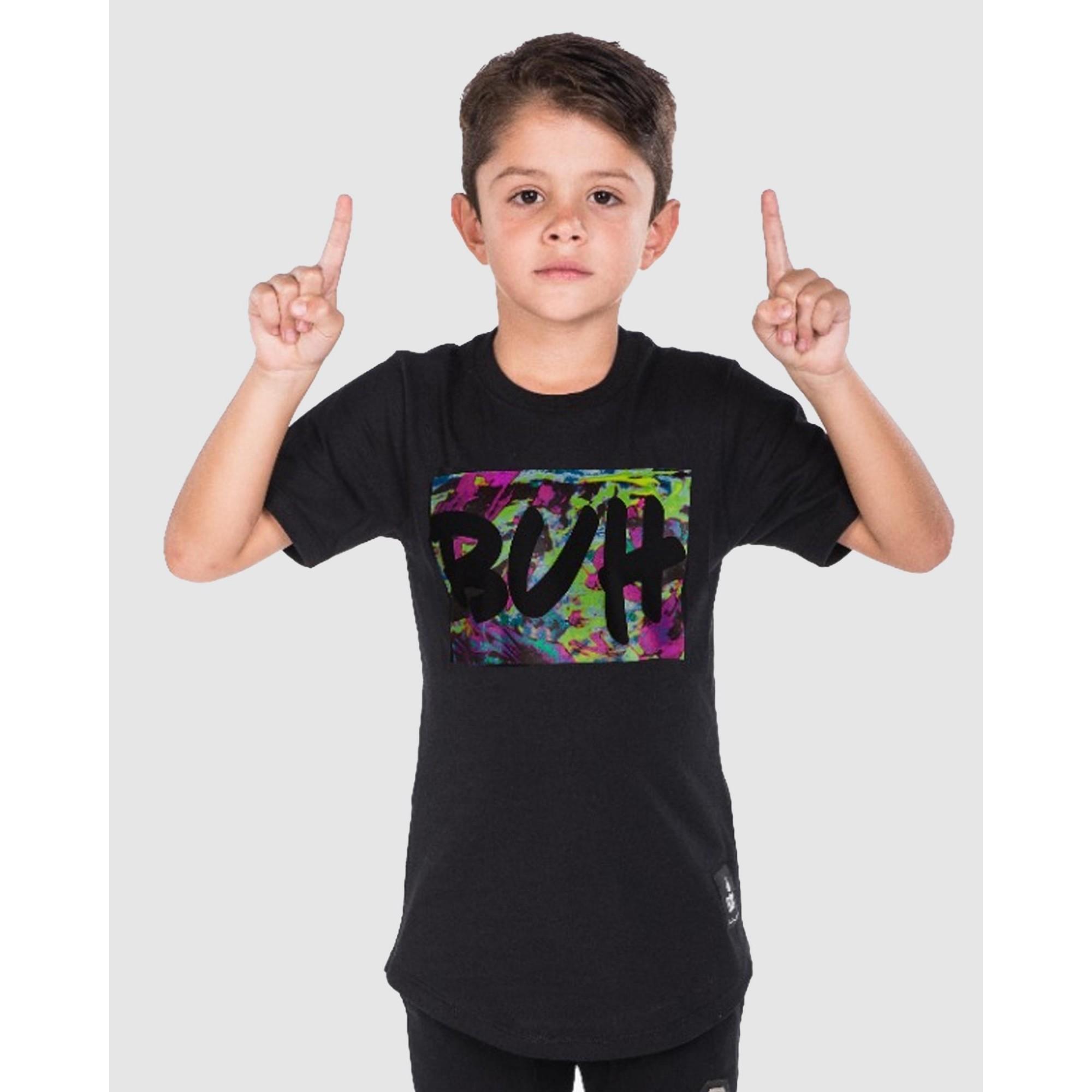 Camiseta Buh Kids Pinceladas Black