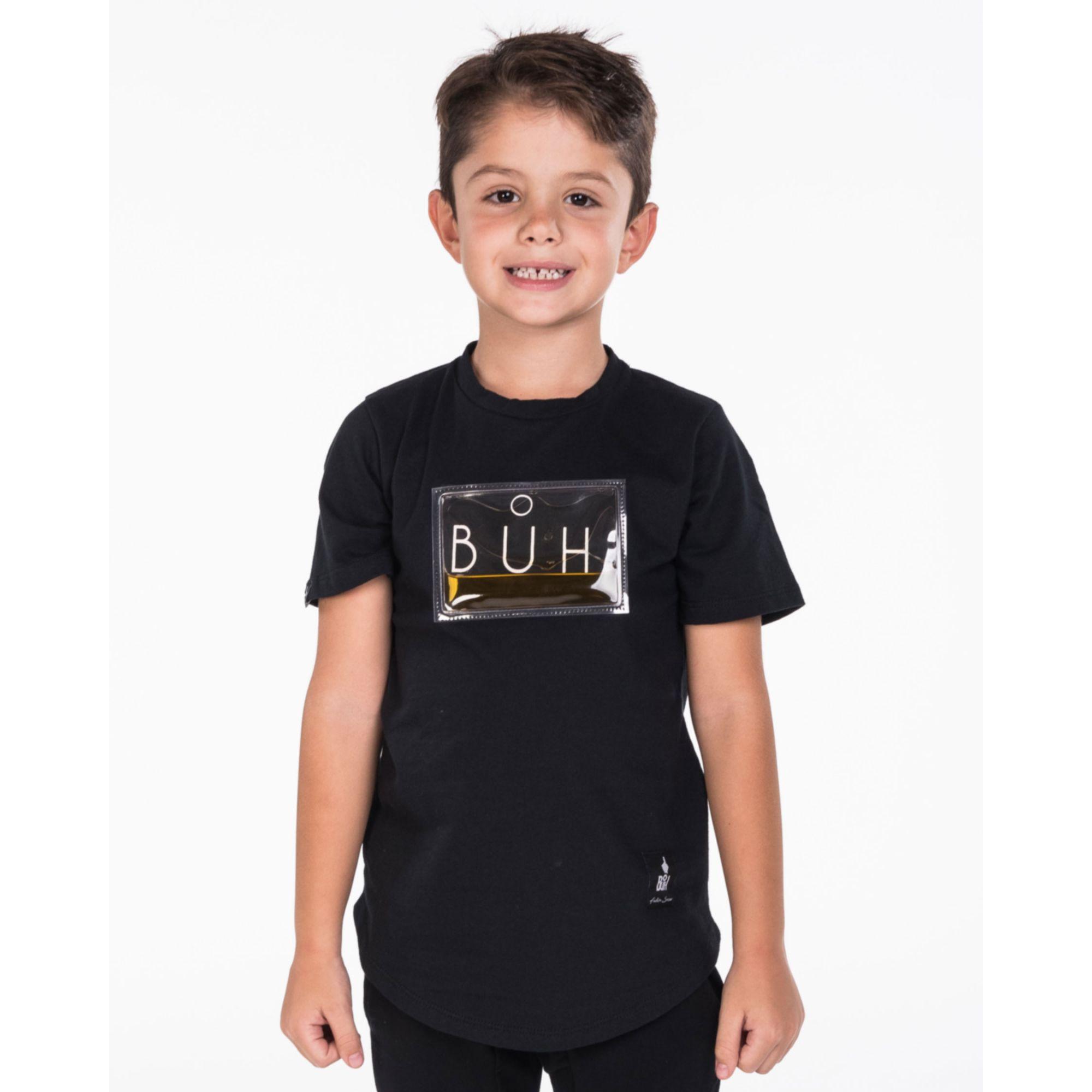Camiseta Buh Kids Plastic Gel Água Black