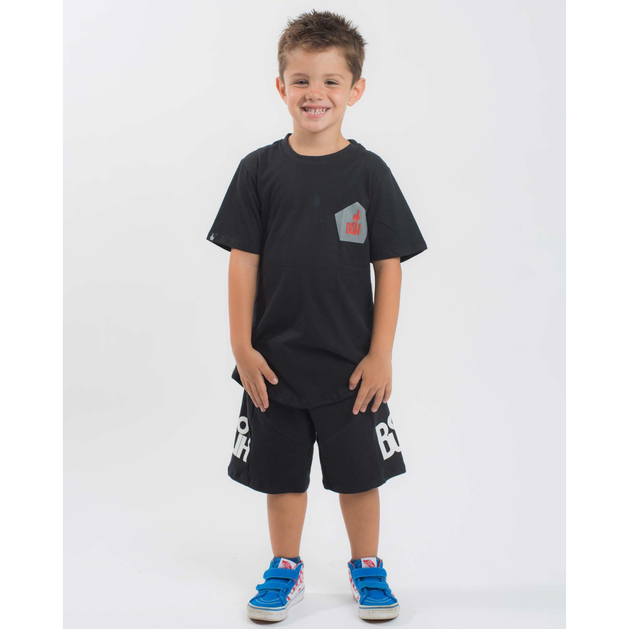 Camiseta Buh Kids Post Soccer Black