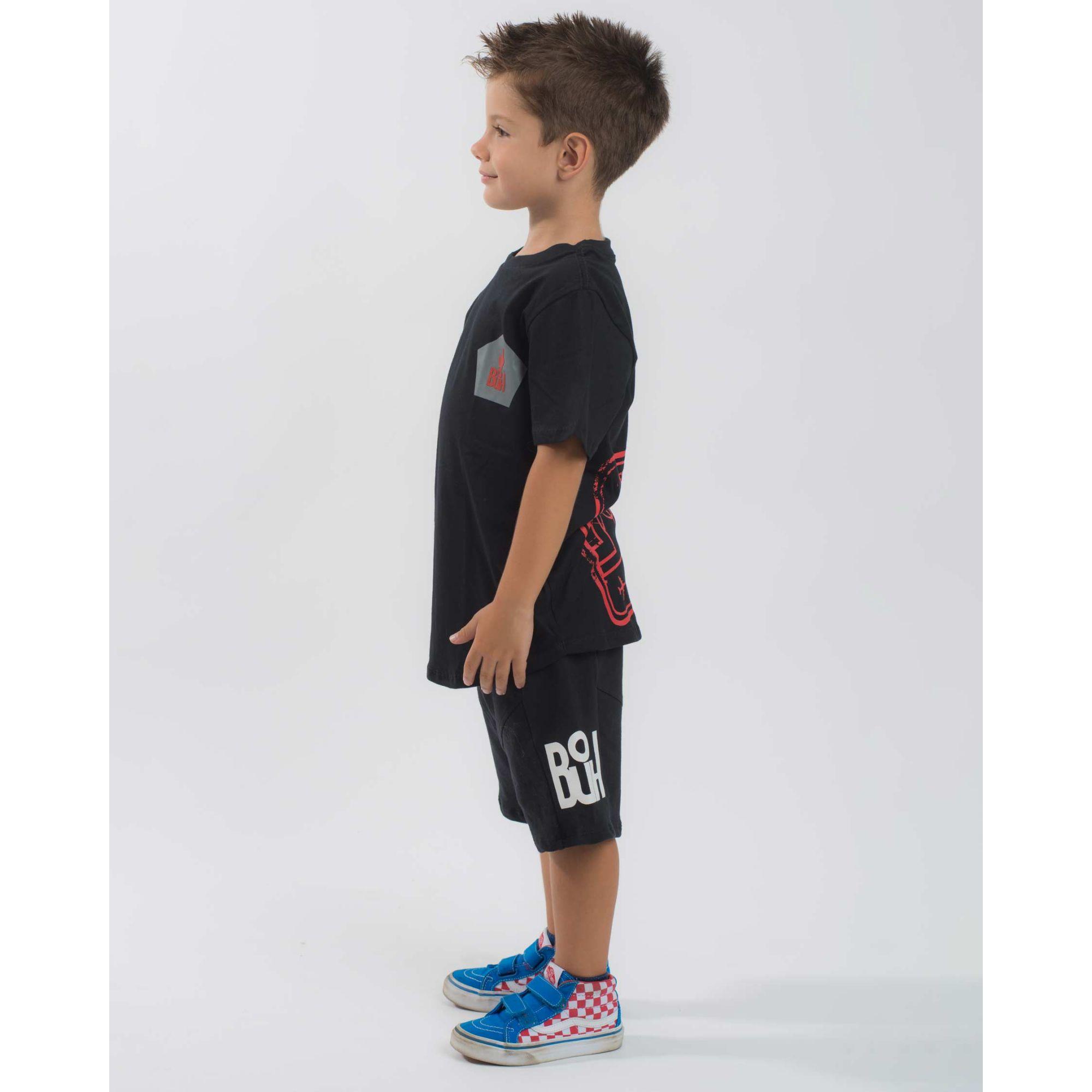 Camiseta Buh Kids Post Soccer Black