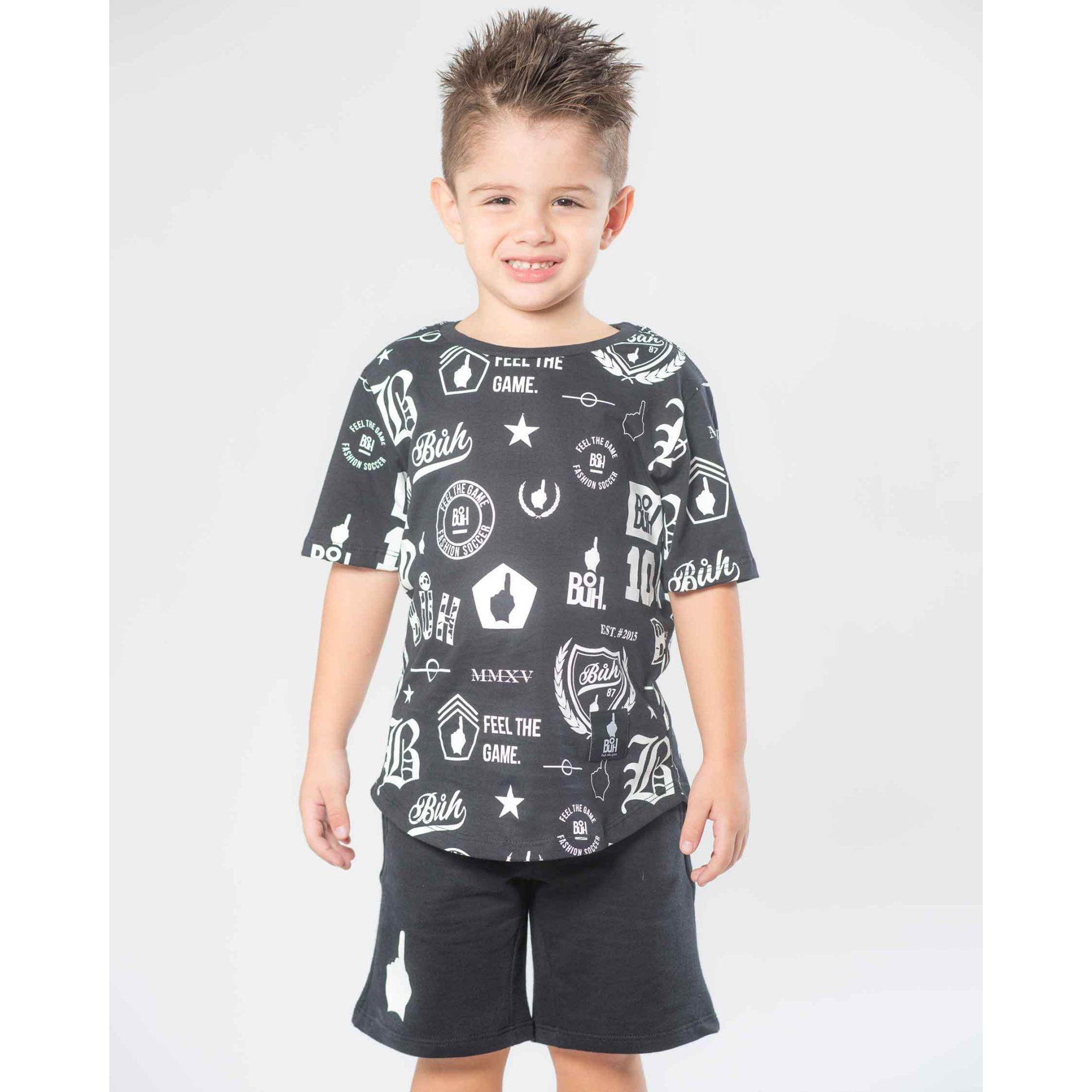 Camiseta Buh Kids Print Full Ícones
