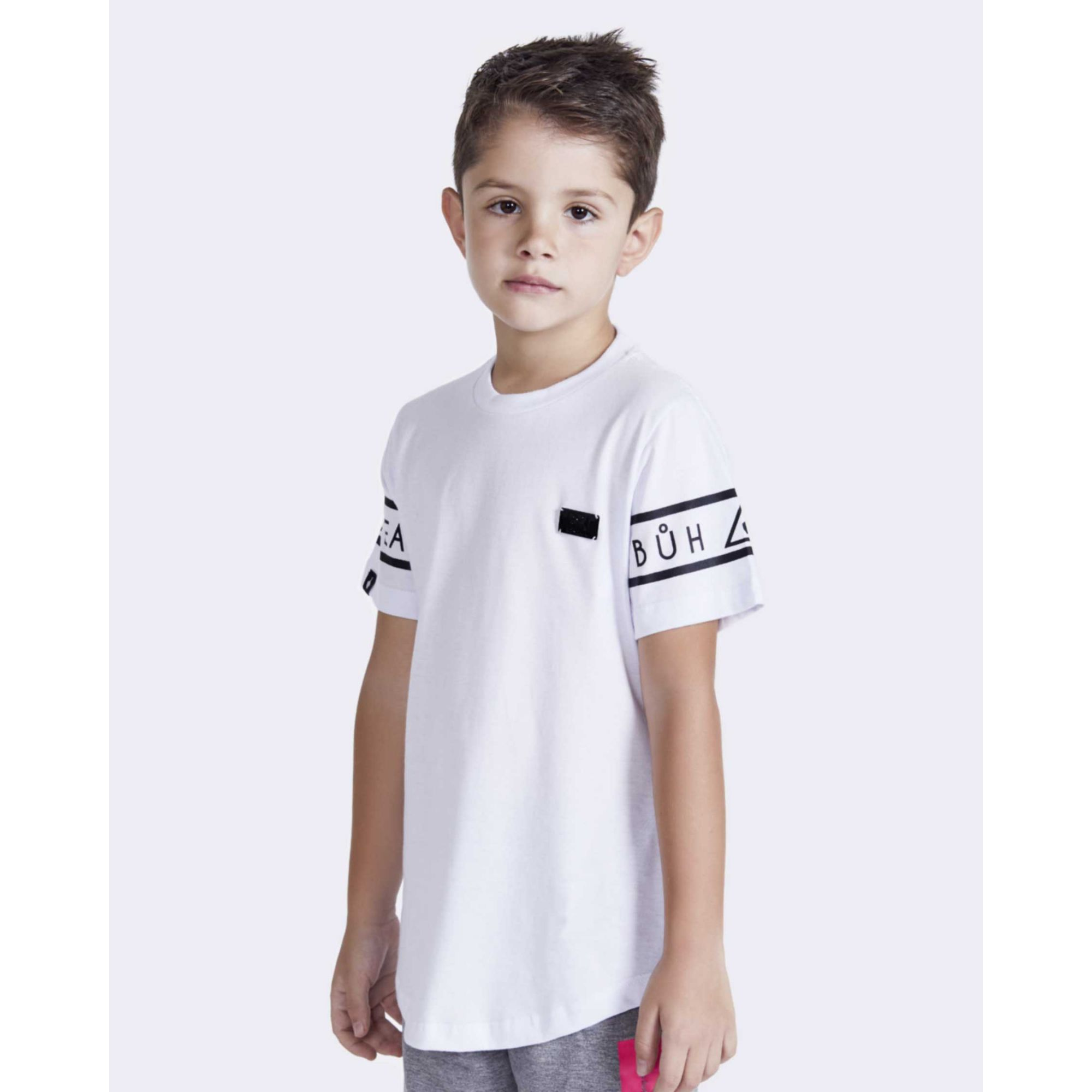 Camiseta Buh Kids Sleeve White