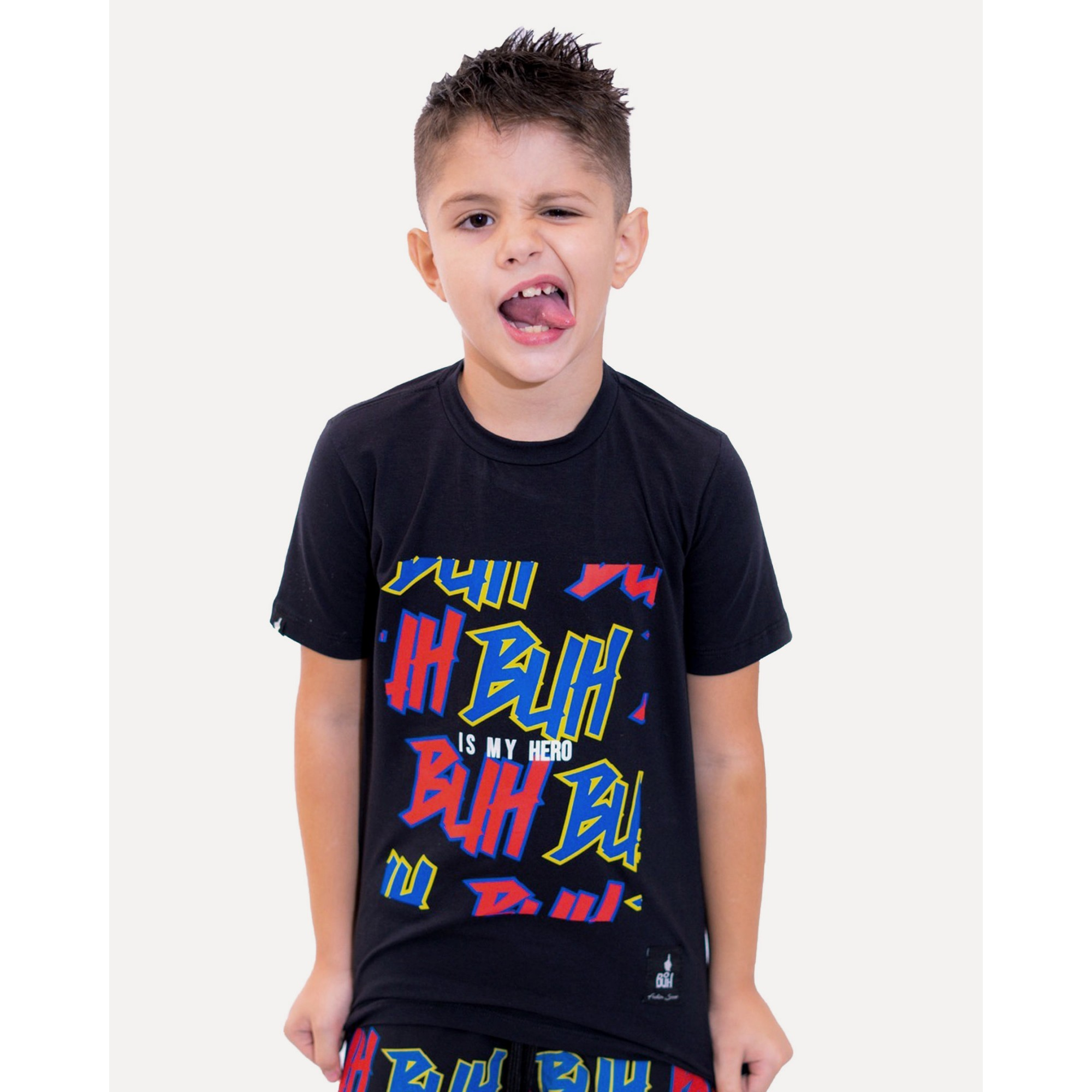 Camiseta Buh Kids Square HQ Black