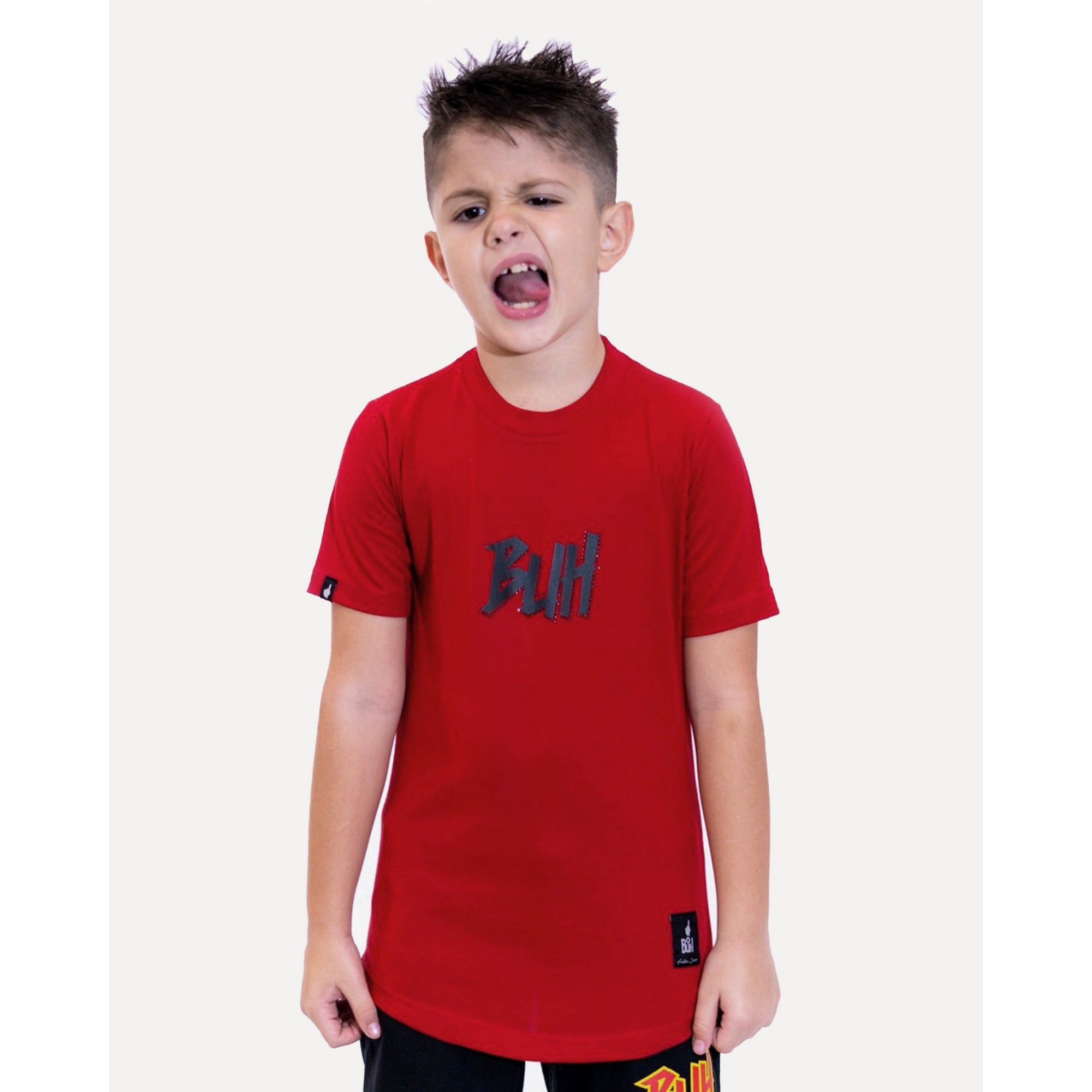Camiseta Buh Kids Strass Logo Red