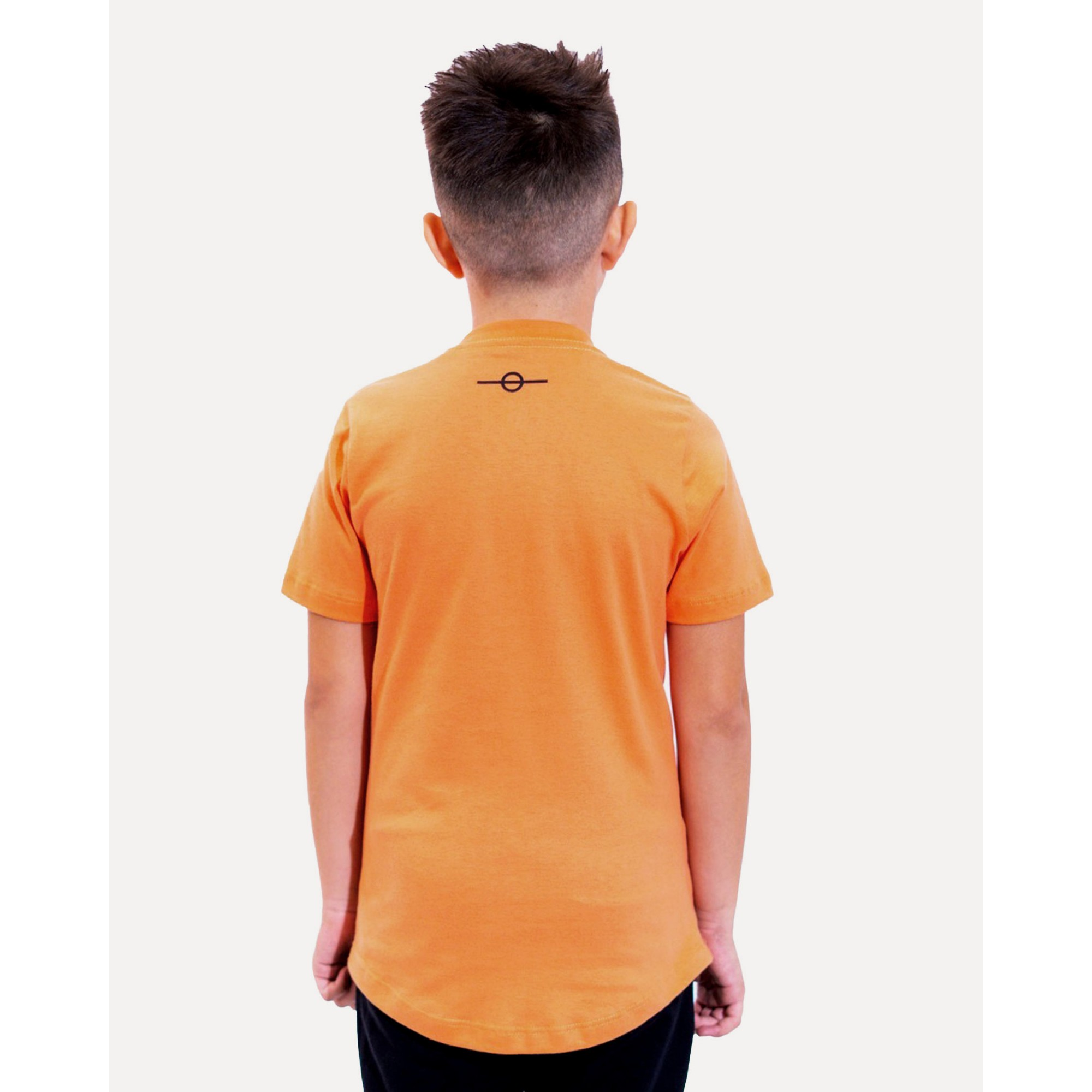 Camiseta Buh Kids Strass Logo Orange