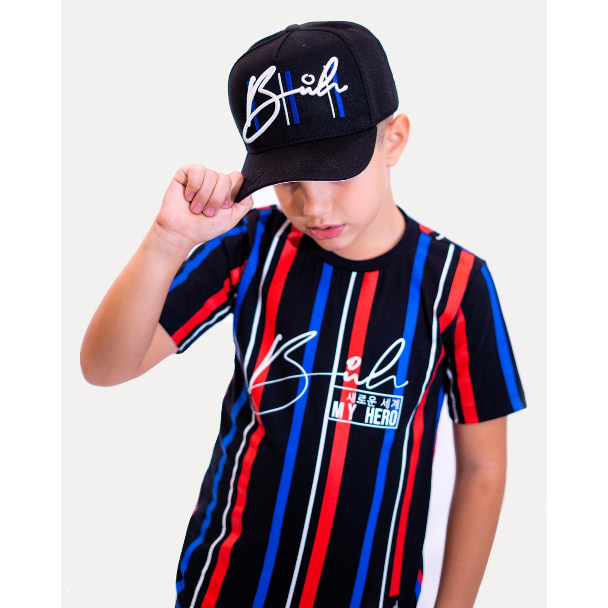 Camiseta Buh Kids Stripes HQ Black