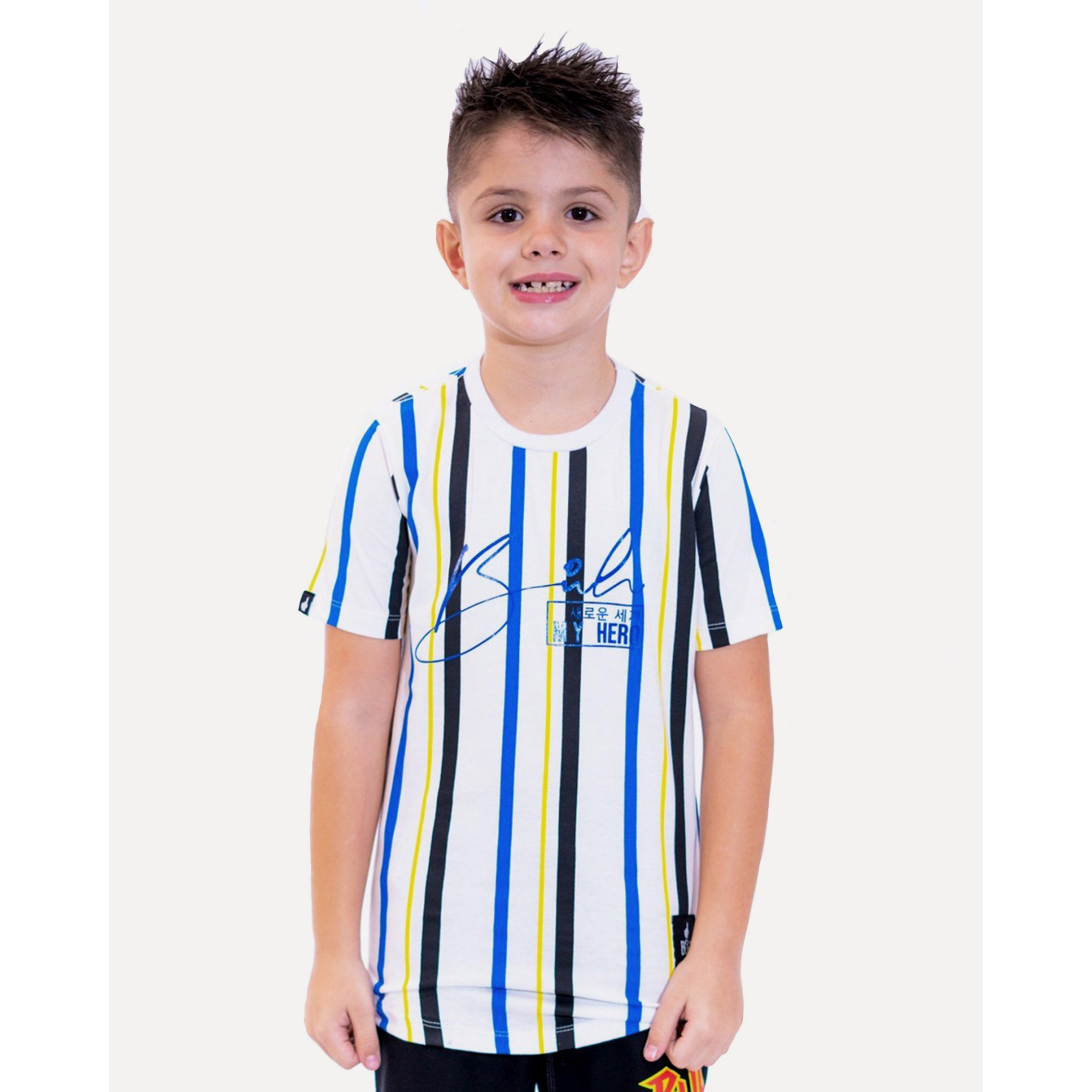 Camiseta Buh Kids Stripes HQ White