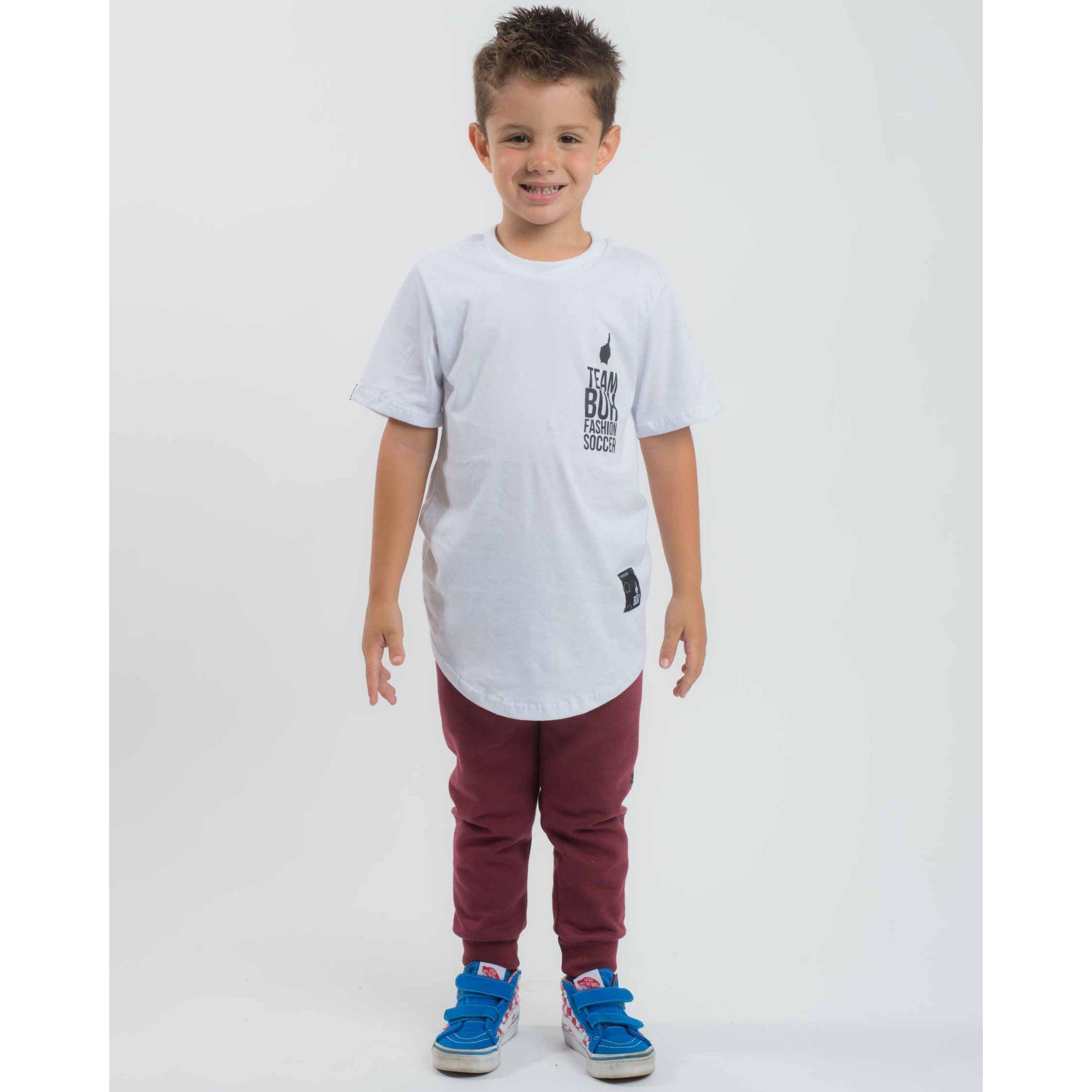 Camiseta Buh Kids Team White & Black