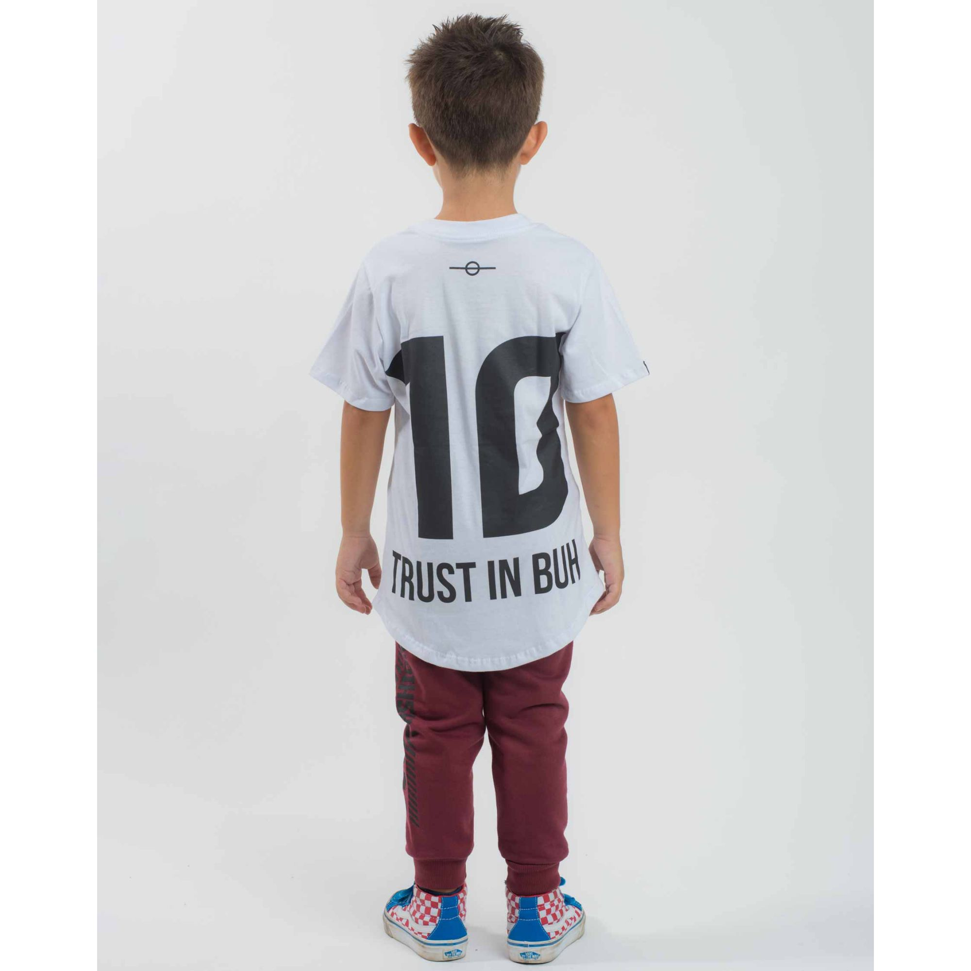 Camiseta Buh Kids Team White & Black