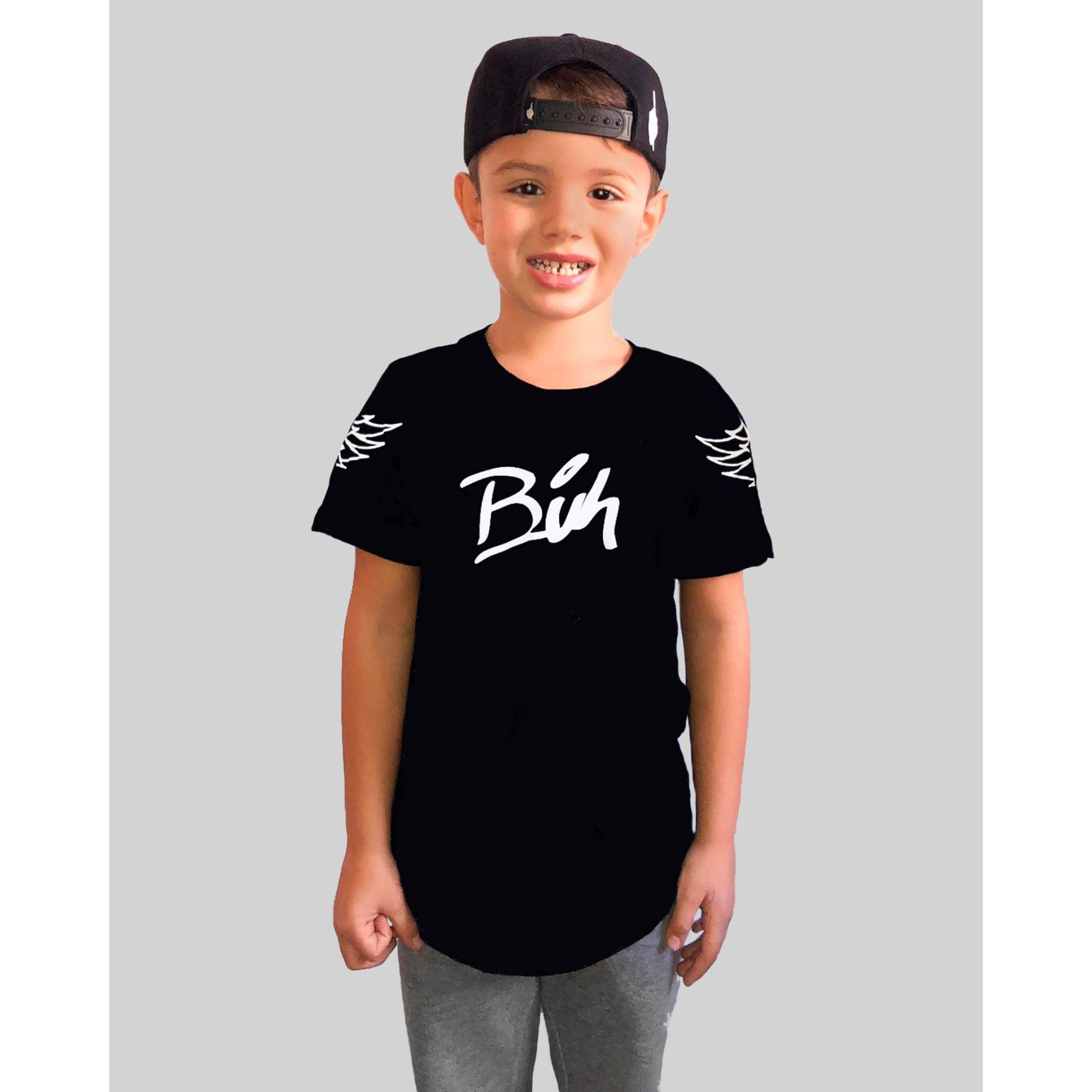 Camiseta Buh Kids Wings Black