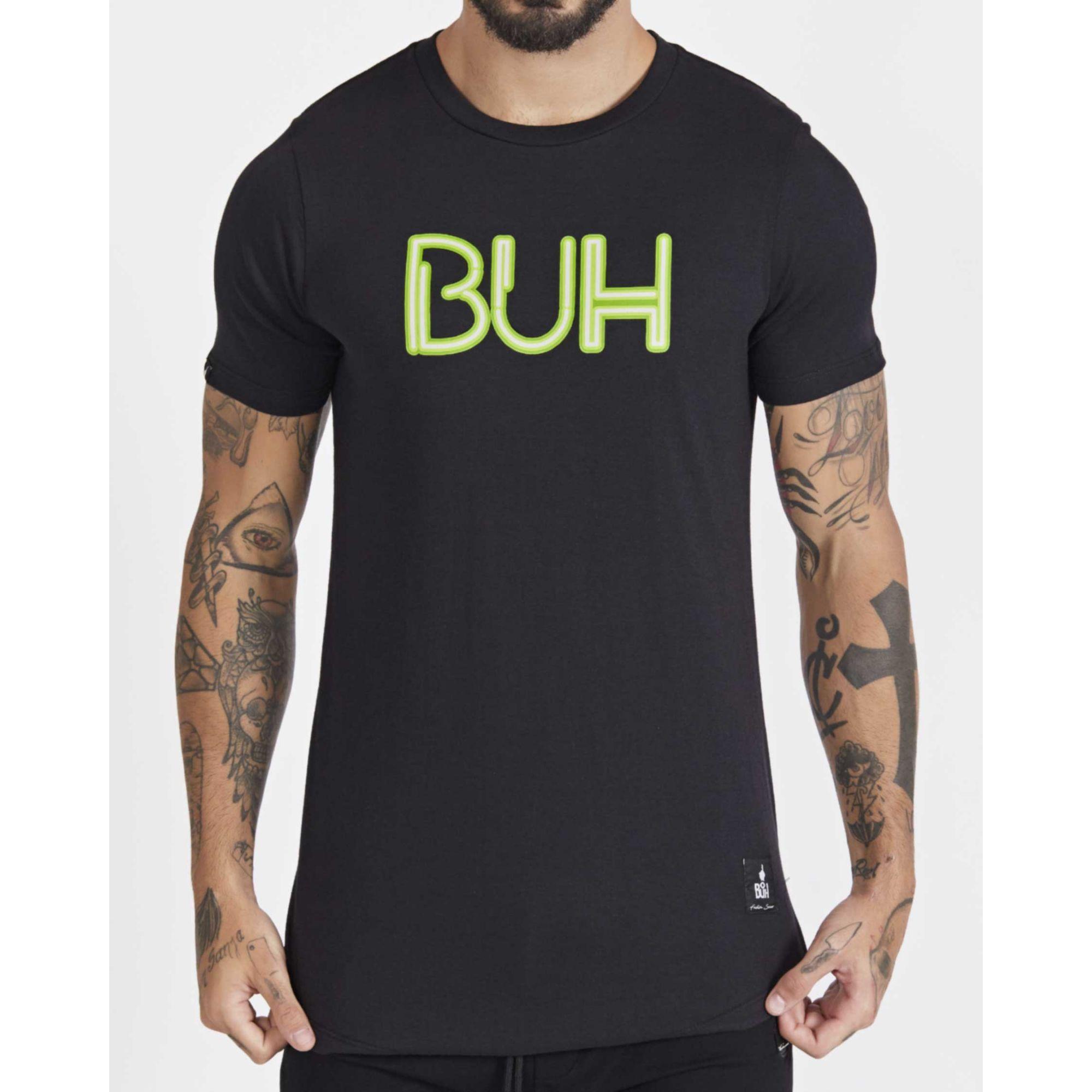 Camiseta Buh Letreiro Black