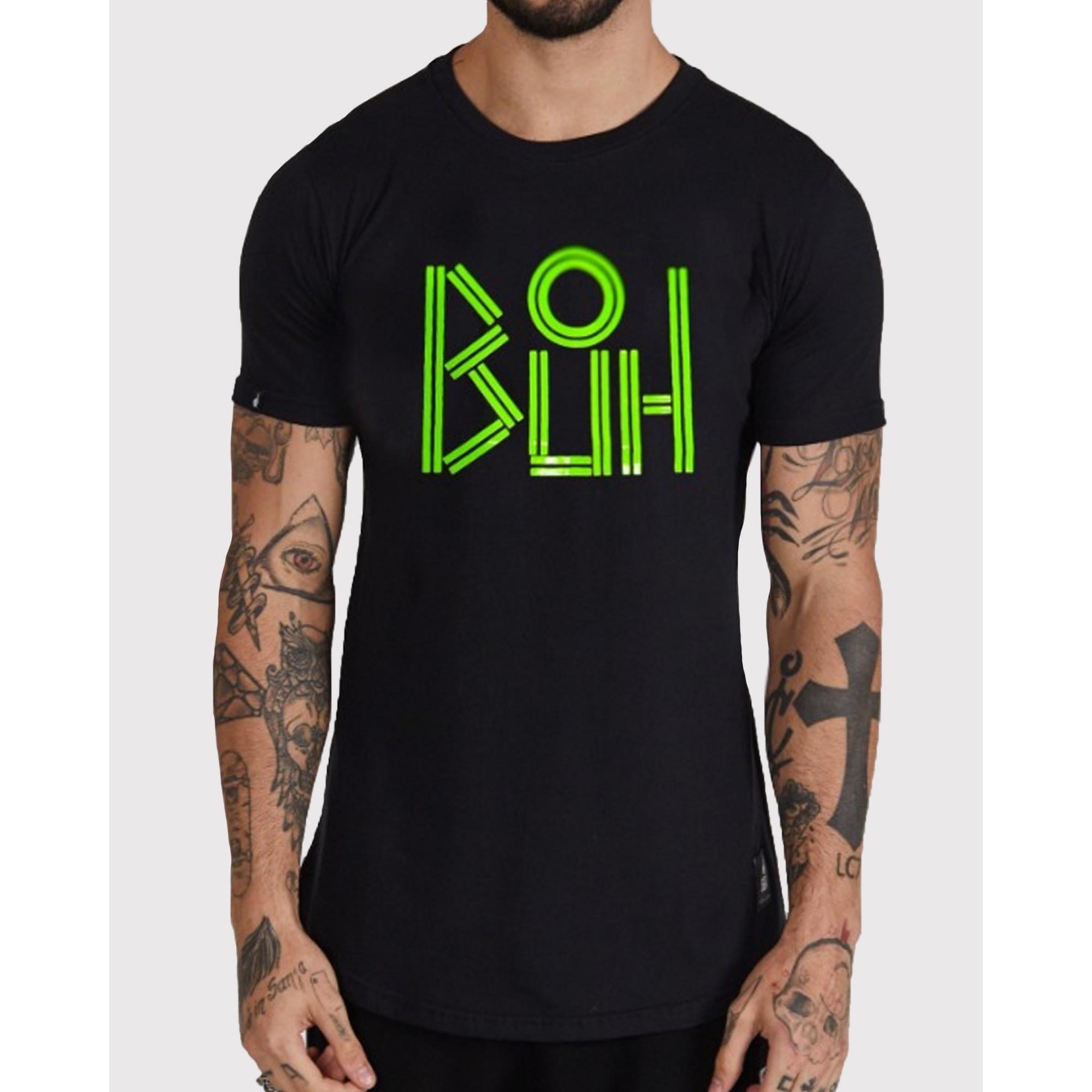 Camiseta Buh Logo Lines Black