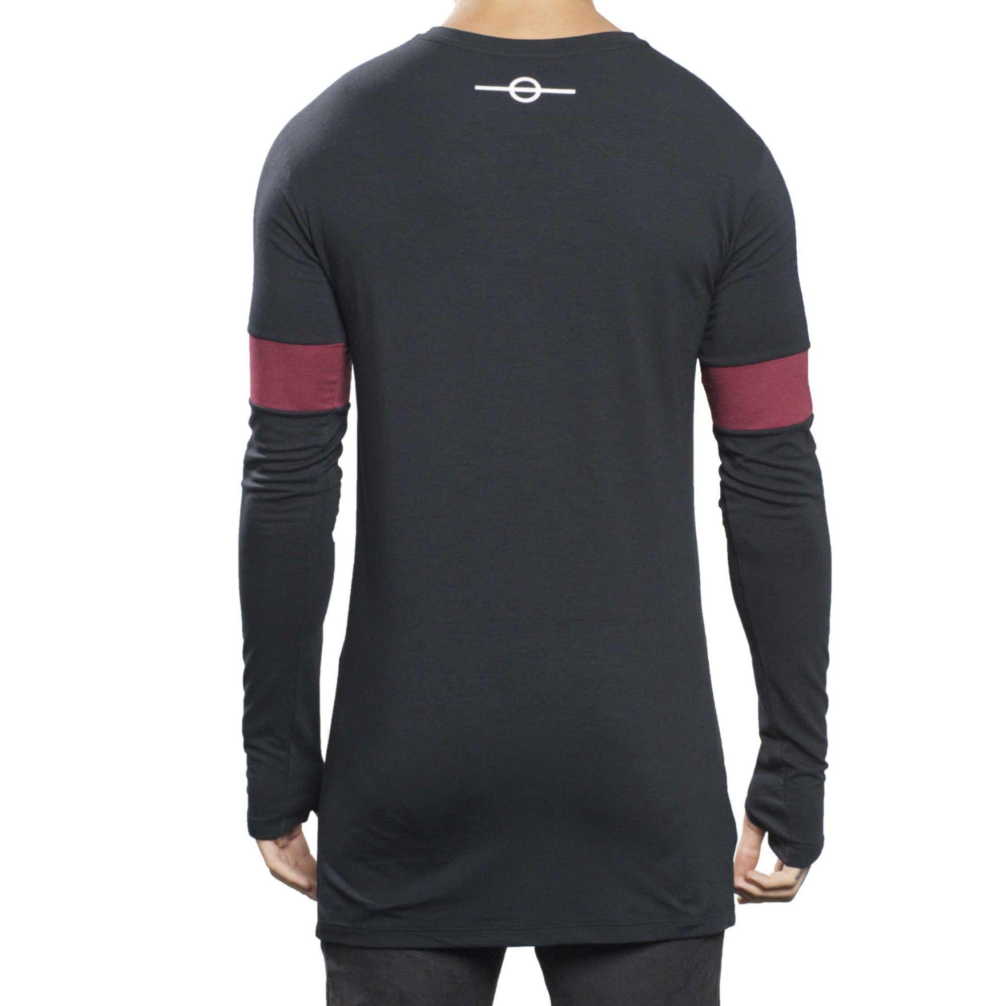 Camiseta Buh Manga Longa Faixa Black