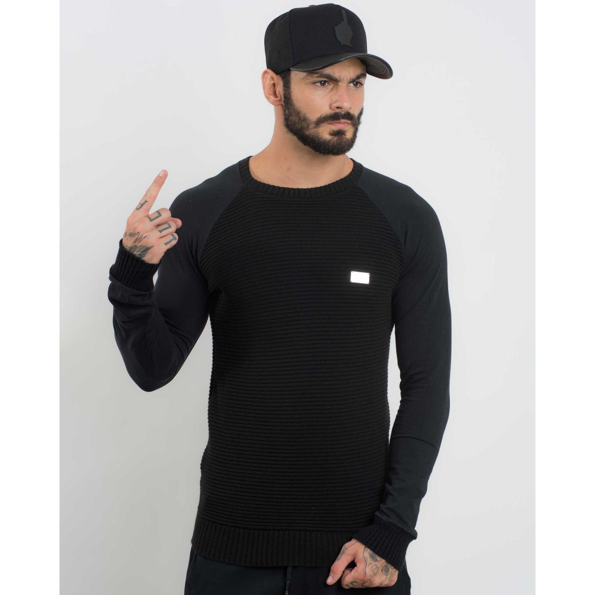 Camiseta Buh Manga Longa Plate Black