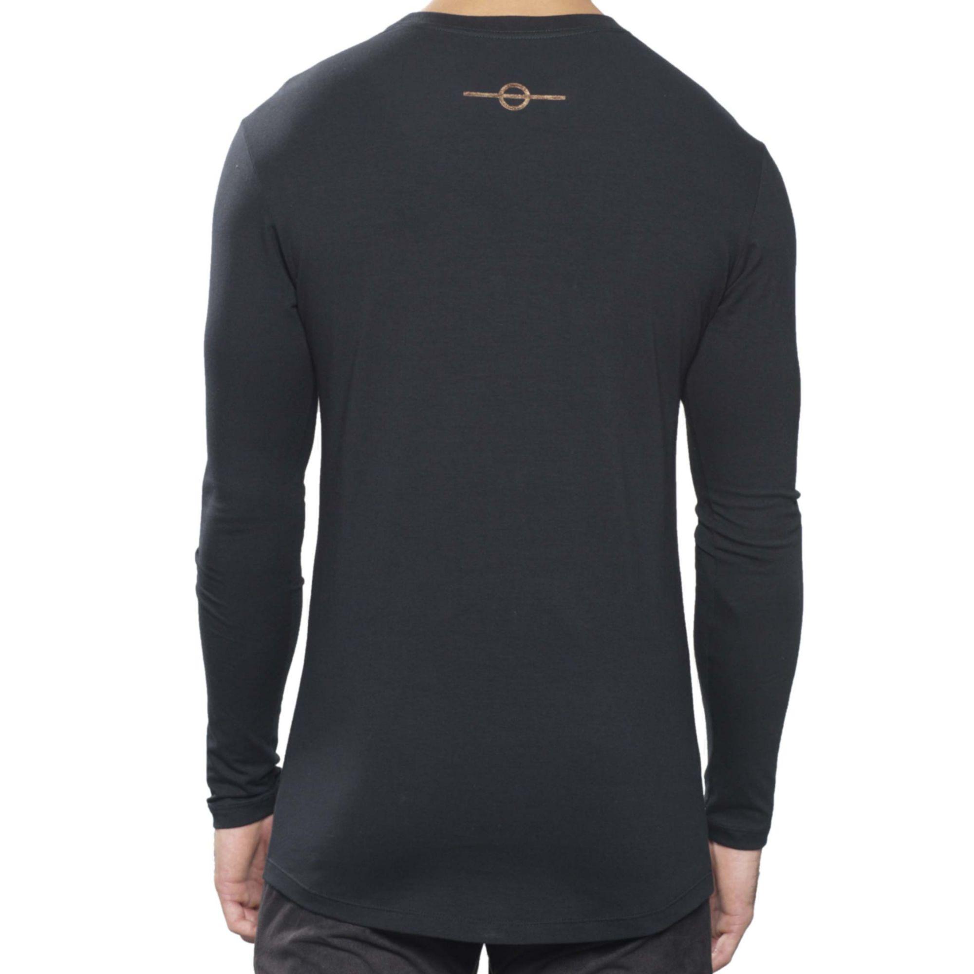 Camiseta Buh Manga Longa Tachas Black