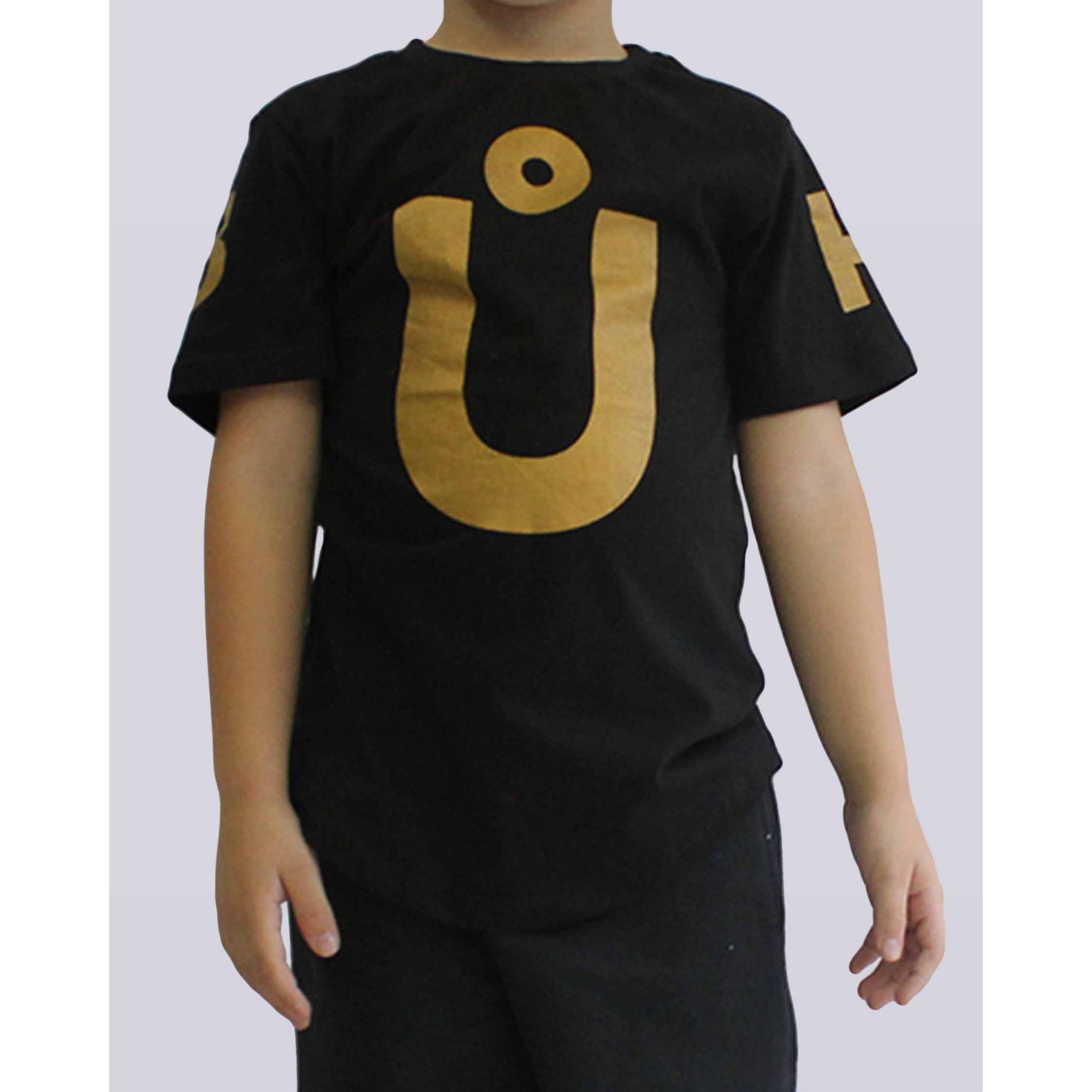 Camiseta Buh Maxxi Letters Black & Gold Kids