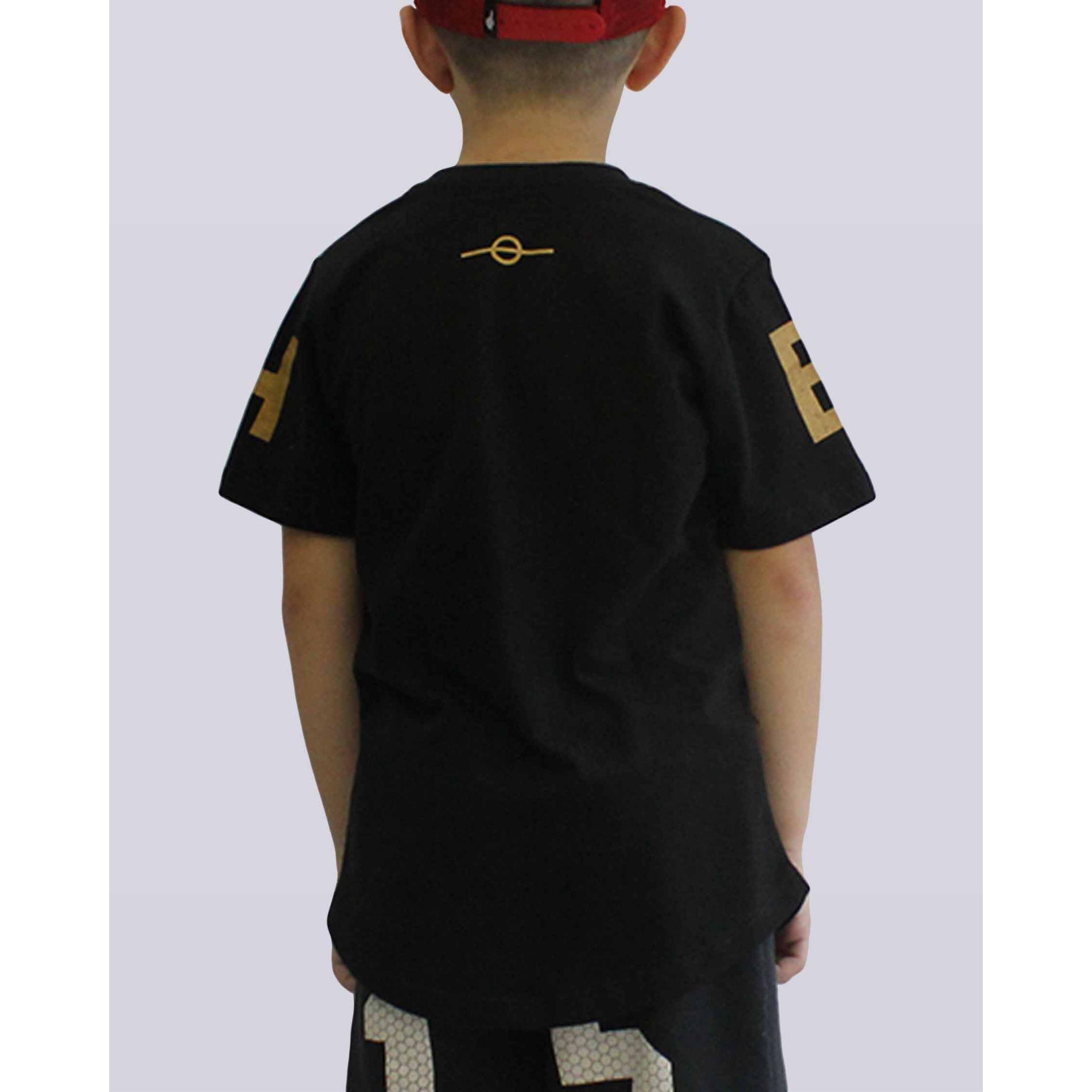 Camiseta Buh Maxxi Letters Black & Gold Kids