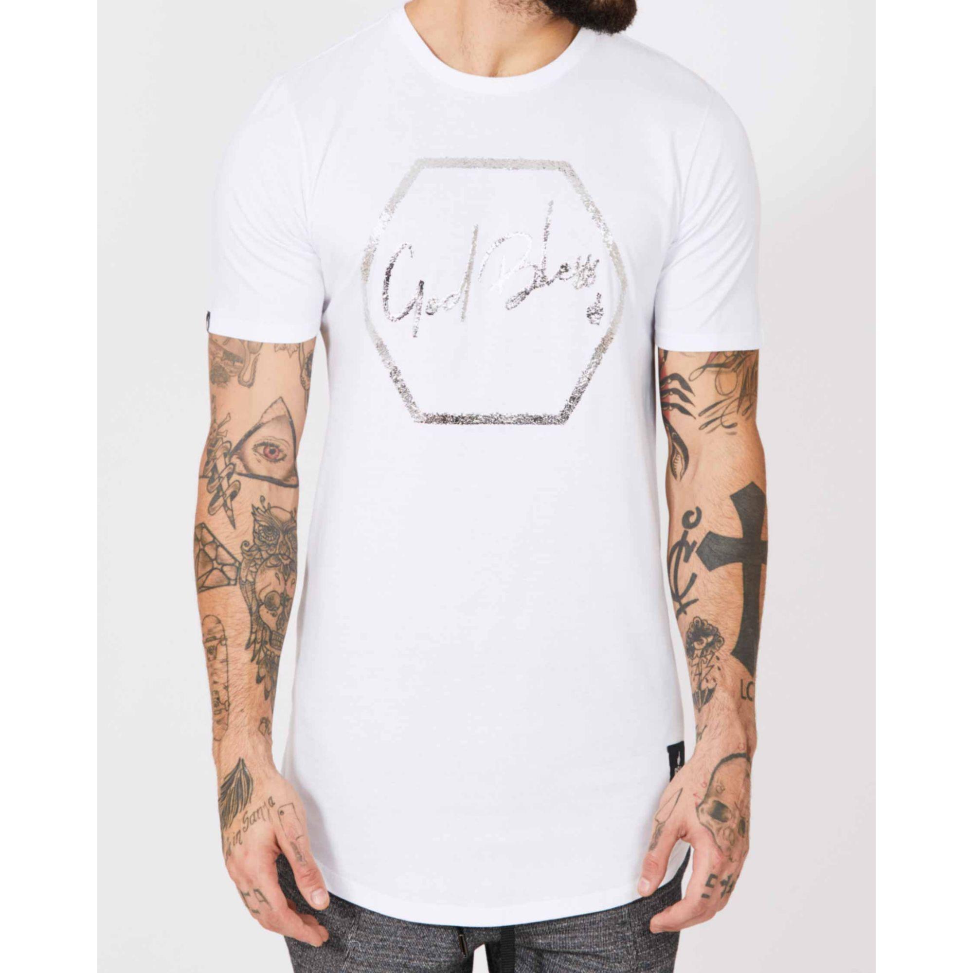 Camiseta Buh Micro Foil God Bless White